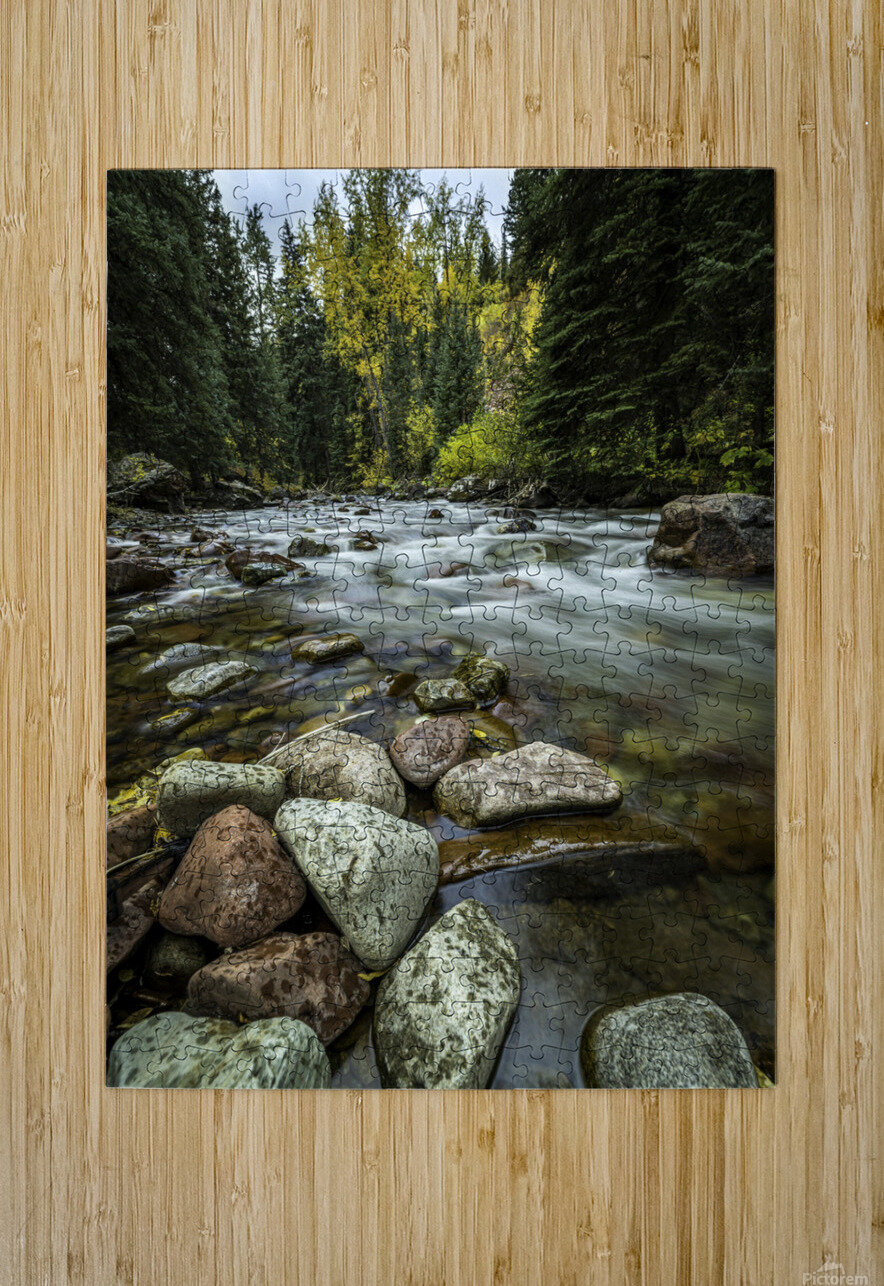 Rocky Mountain Stream II  HD Metal print with Floating Frame on Back