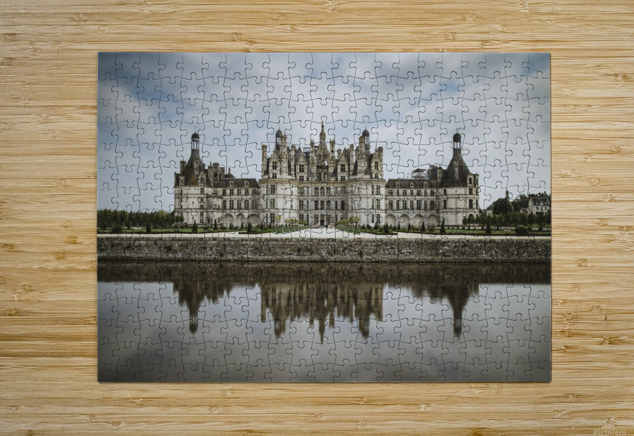 Chateau Chambord   HD Metal print with Floating Frame on Back