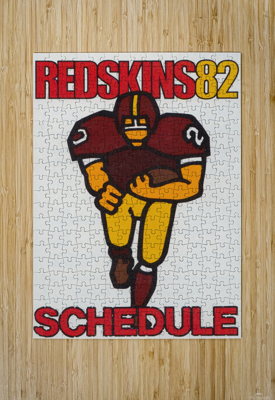 1982 Washington Redskins NFL Football Schedule Art Poster Row One Brand  HD Metal print with Floating Frame on Back