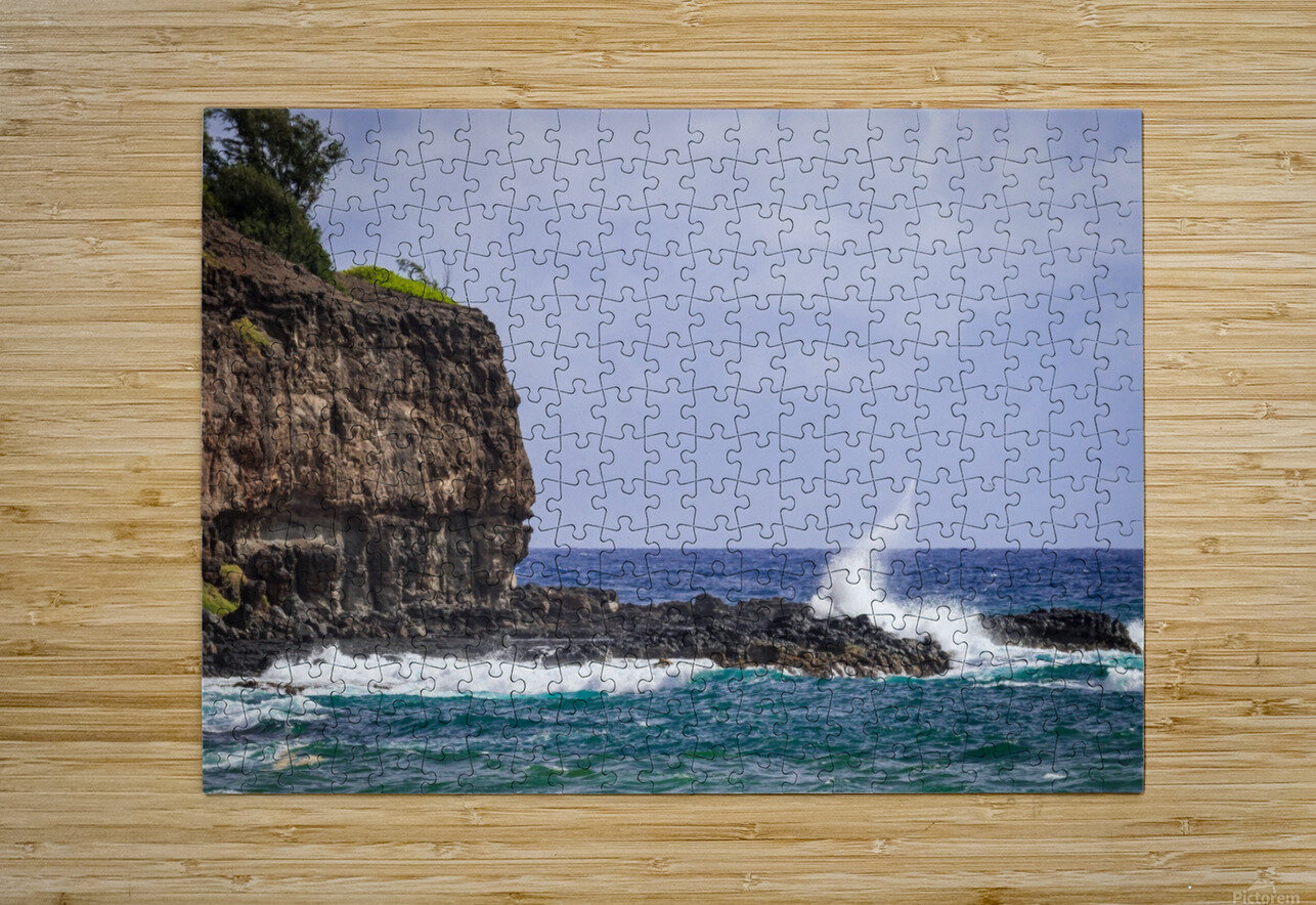 Kahili Beach   Kauai Hawaii 1035  HD Metal print with Floating Frame on Back