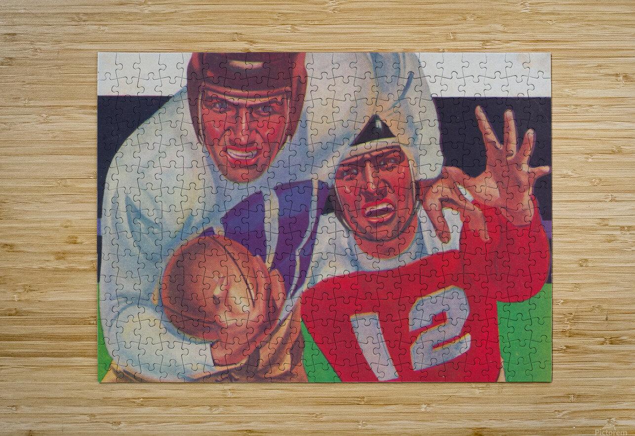 Vintage Football Fine Art Prints_ Old Football Art Poster  HD Metal print with Floating Frame on Back