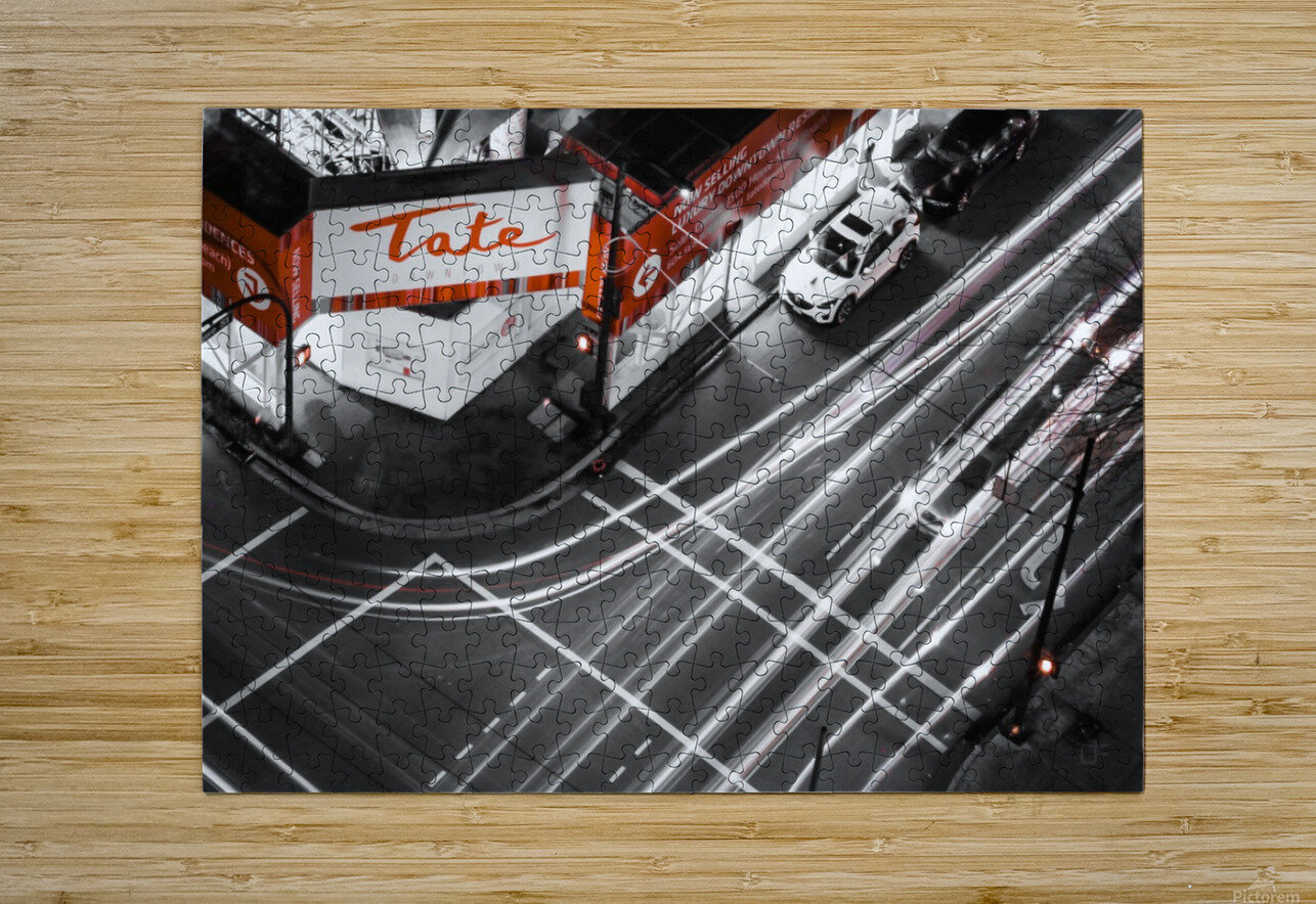 Street long exposure  HD Metal print with Floating Frame on Back