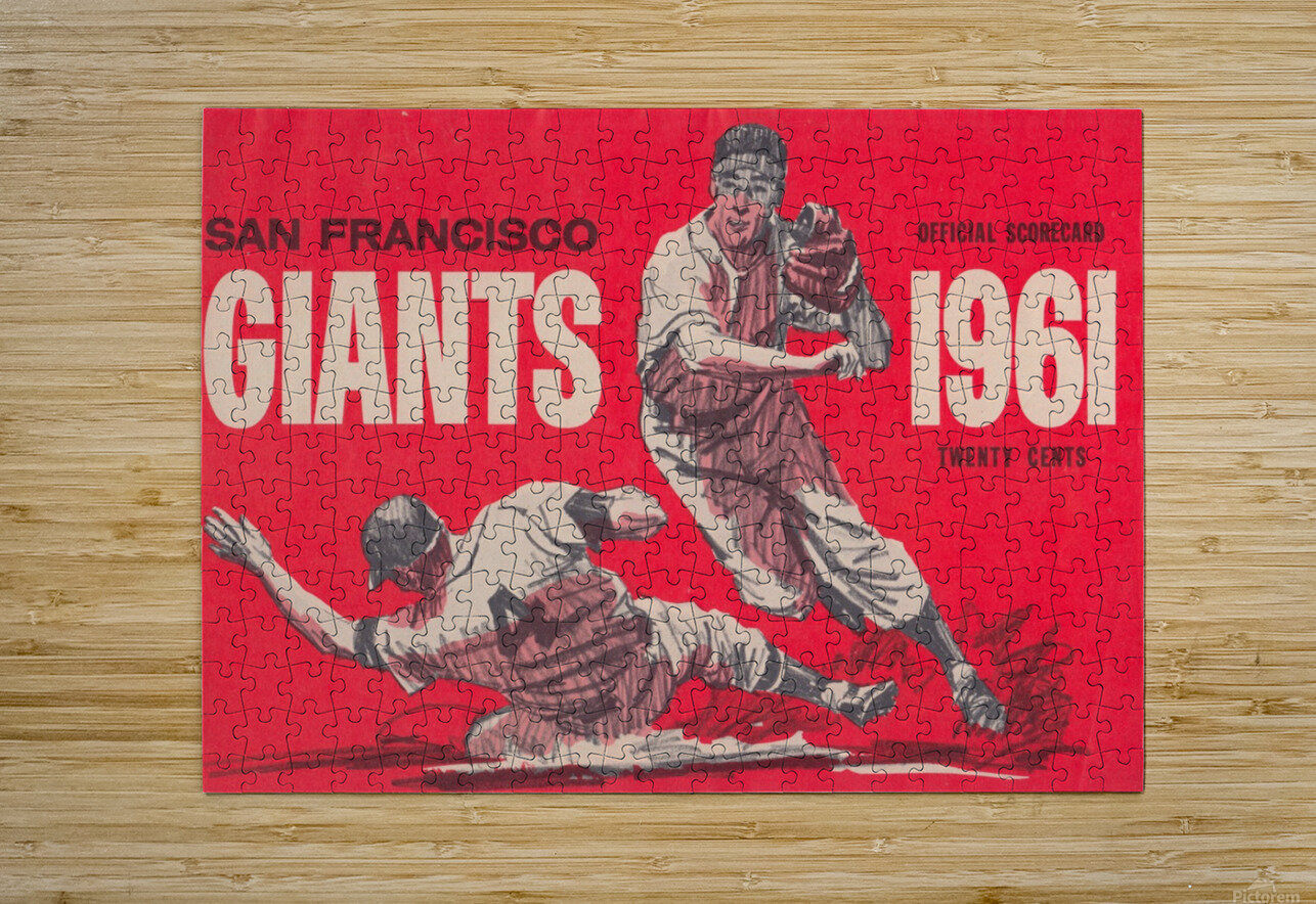 1961 San Francisco Giants Scorecard_Bay Area Home Decor Ideas  HD Metal print with Floating Frame on Back