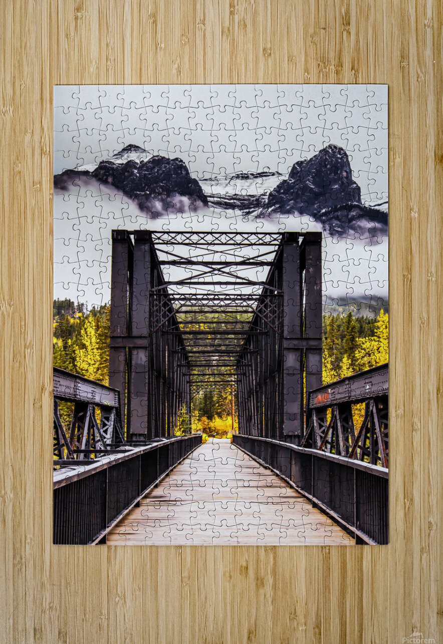 The Engine Bridge Canmore  HD Metal print with Floating Frame on Back