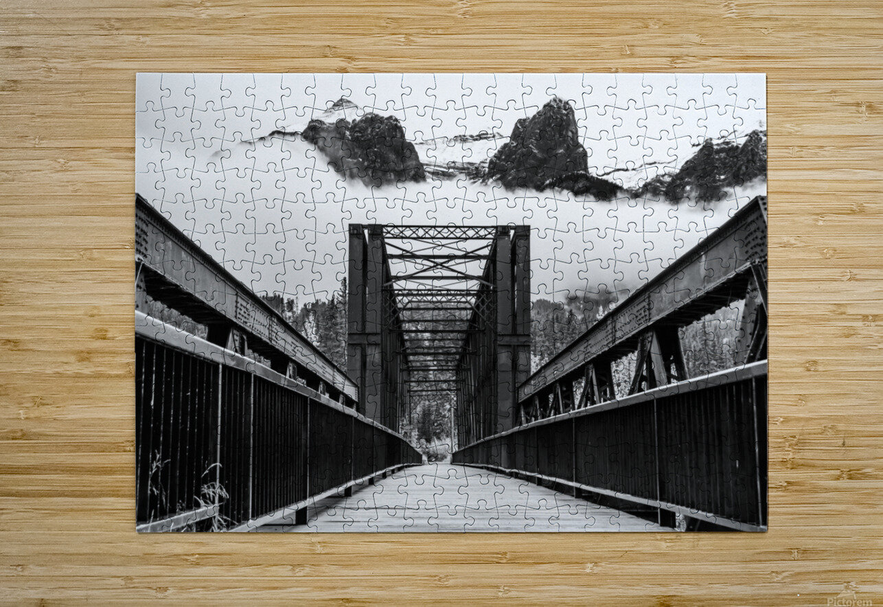 Canmore Iconic Engine Bridge  HD Metal print with Floating Frame on Back