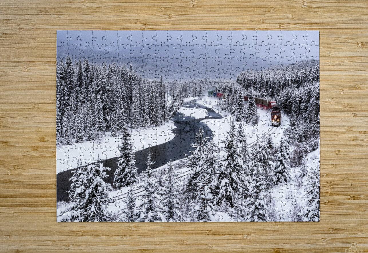 Morants Curve  Banff National Park  HD Metal print with Floating Frame on Back