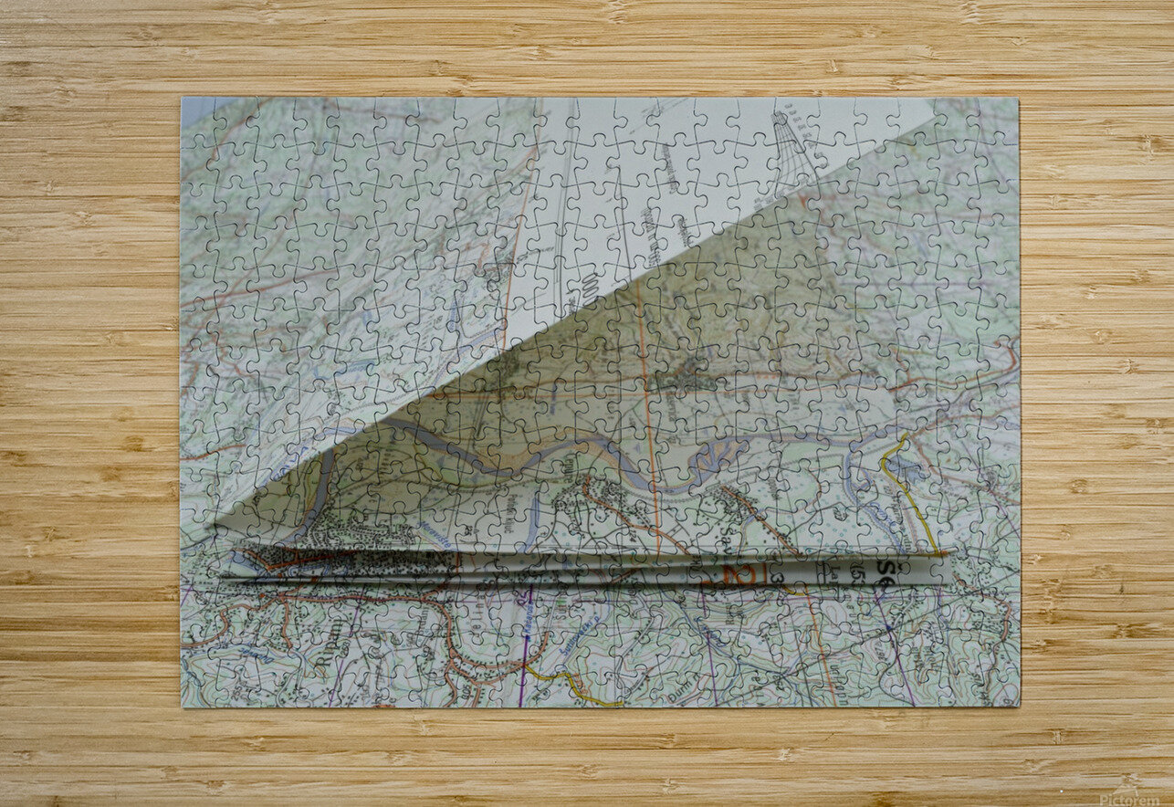 map navigation orientation drawing geography  HD Metal print with Floating Frame on Back