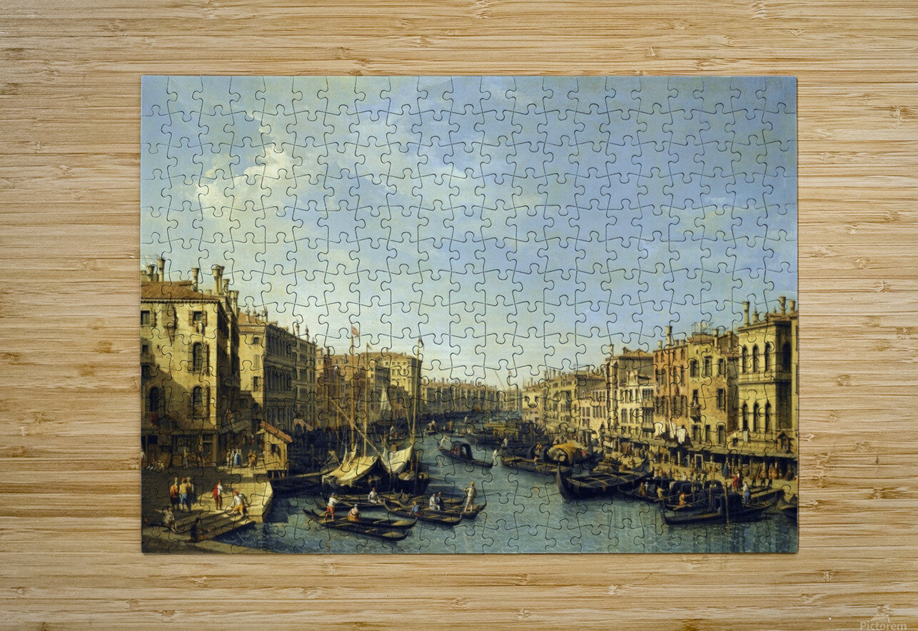Venice - The Grand Canal  HD Metal print with Floating Frame on Back