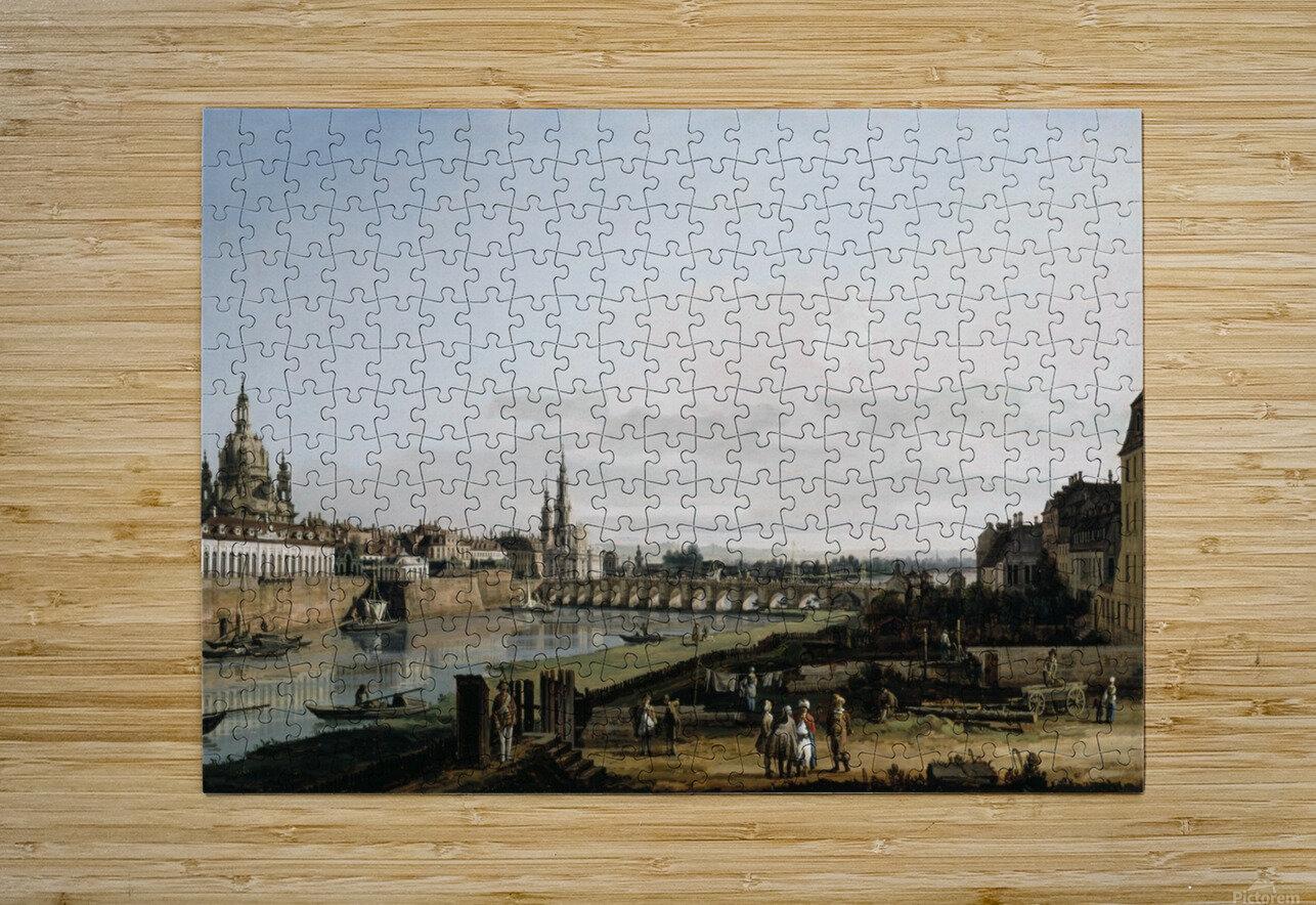 Dresden vom rechten Elbufer  HD Metal print with Floating Frame on Back