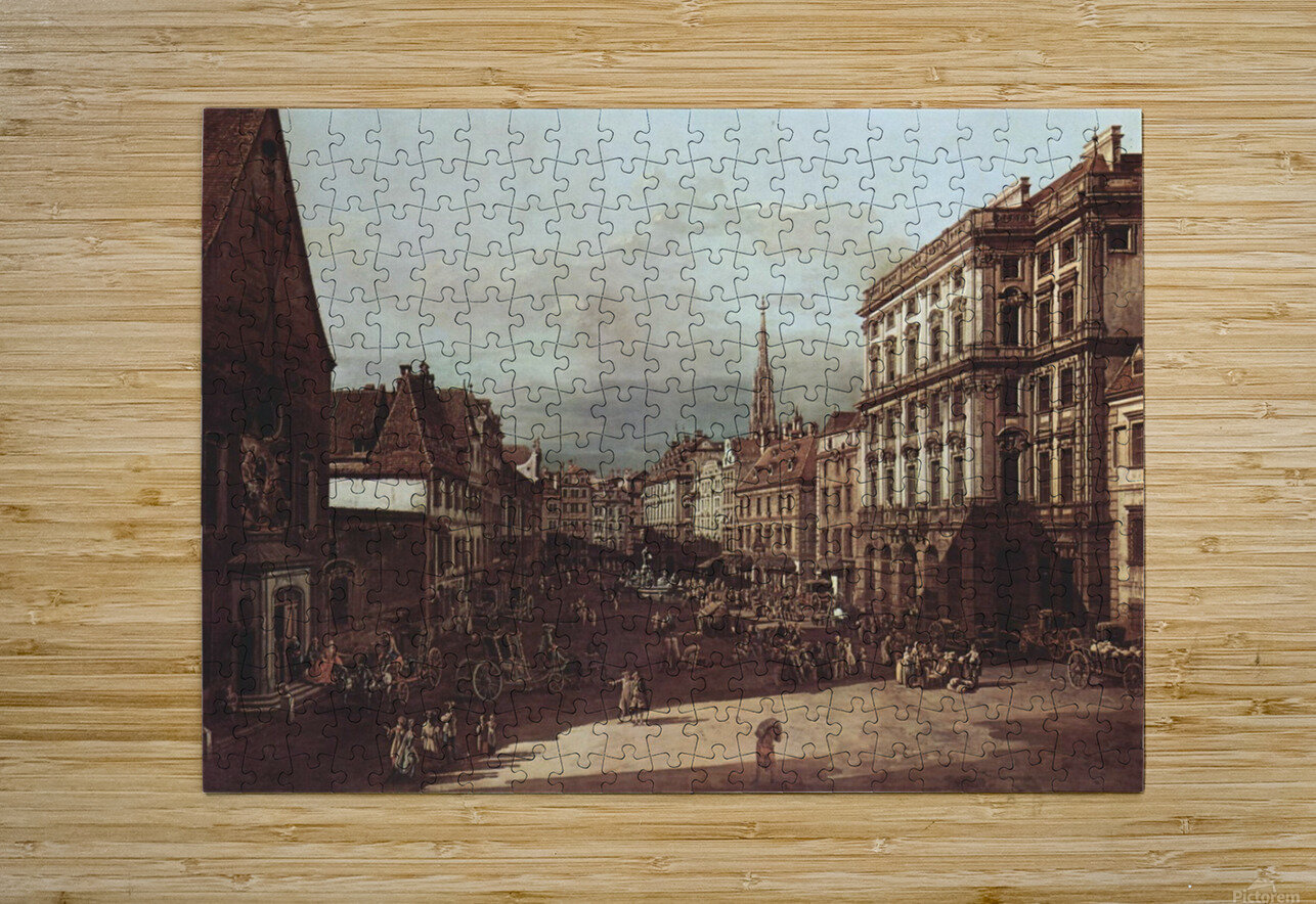 View of Vienna, flour market of Southwest seen from northeast  HD Metal print with Floating Frame on Back