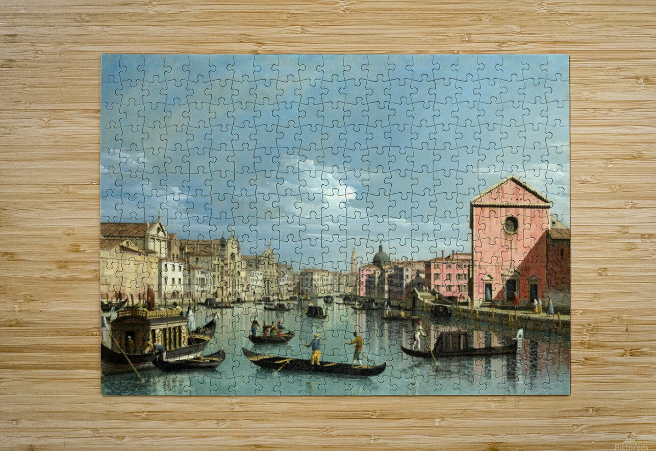 The Grand Canal facing Santa Croce  HD Metal print with Floating Frame on Back