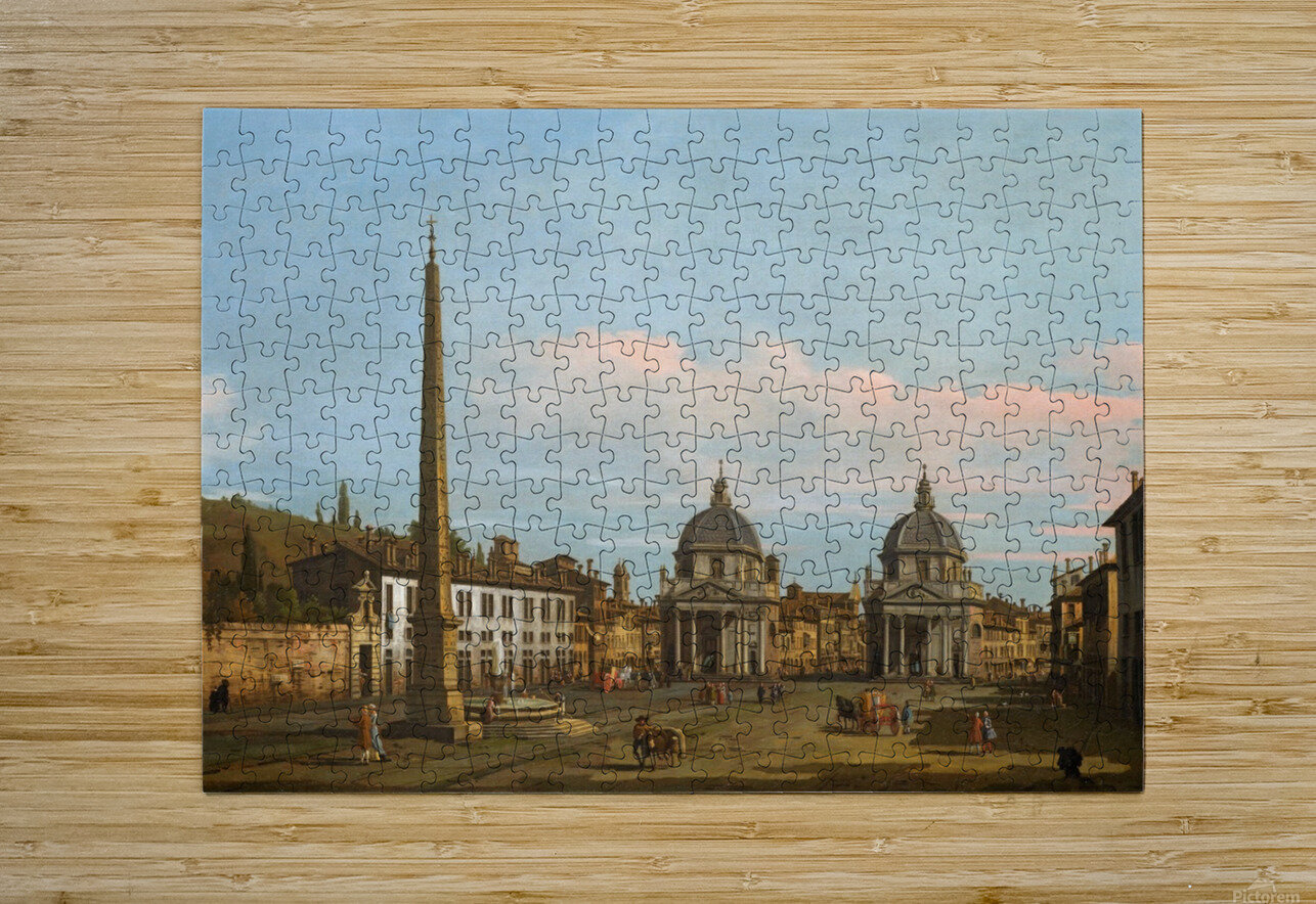The Piazza del Popolo, Rome  HD Metal print with Floating Frame on Back