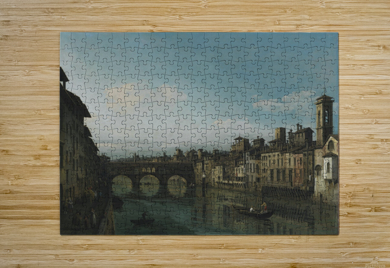 City of Florence  HD Metal print with Floating Frame on Back