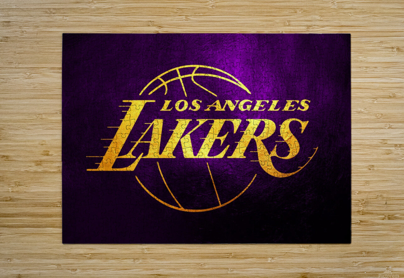 Lakers  HD Metal print with Floating Frame on Back