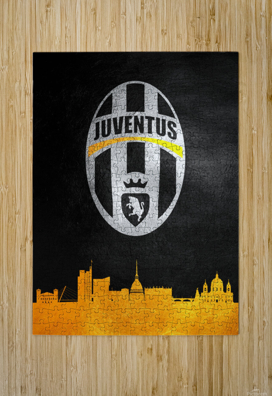 Juventus  HD Metal print with Floating Frame on Back