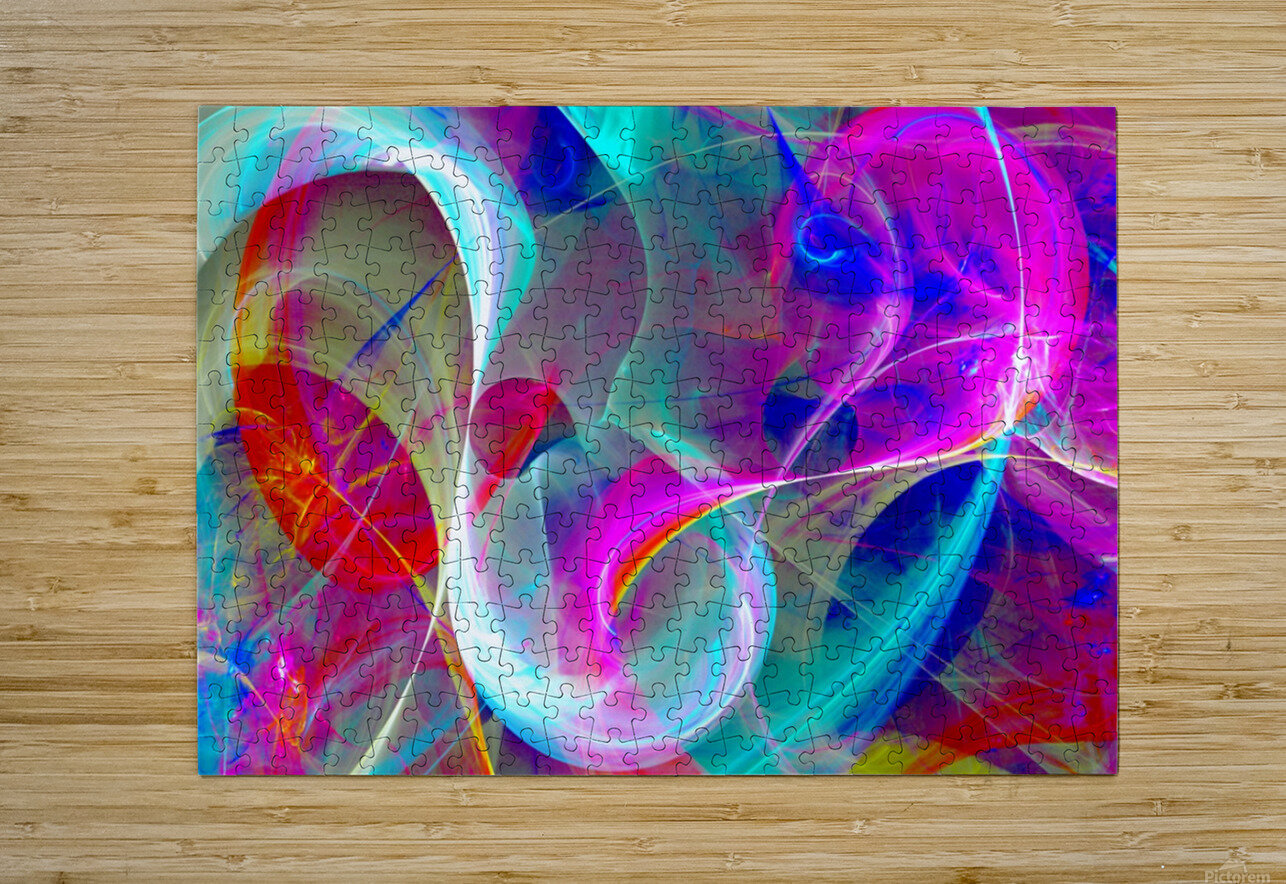 SWIRLS 1B  HD Metal print with Floating Frame on Back