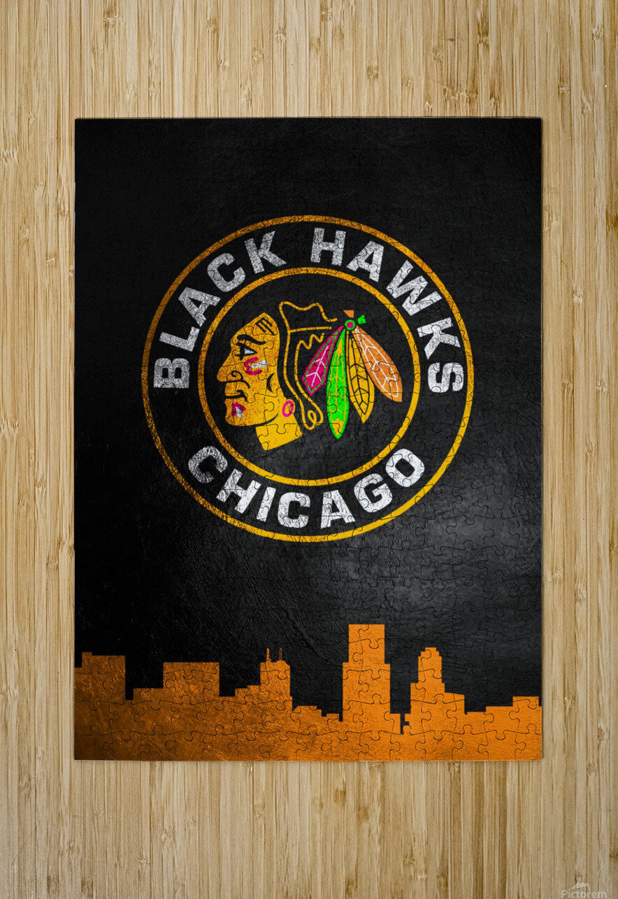 Chicago Blackhawks  HD Metal print with Floating Frame on Back