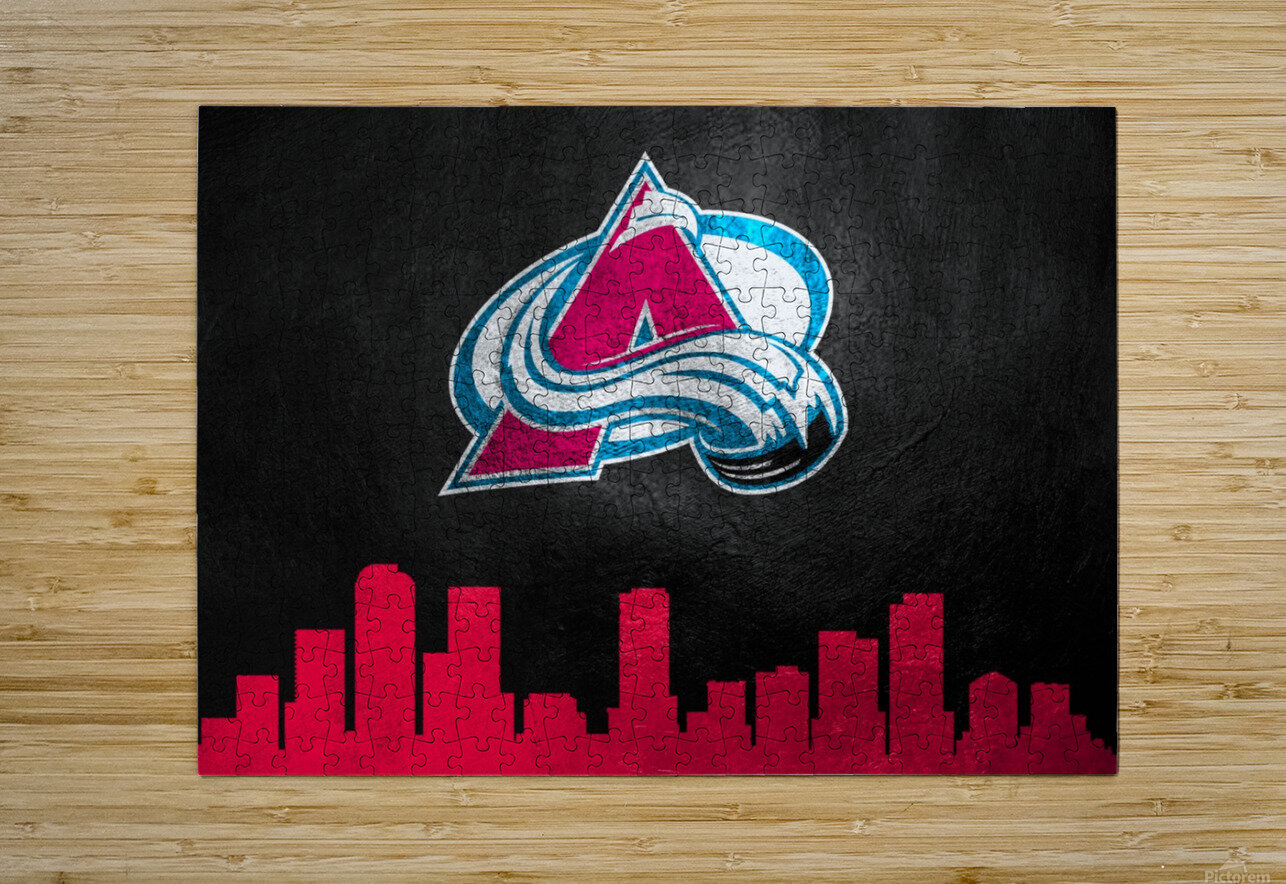 Colorado Avalanche  HD Metal print with Floating Frame on Back