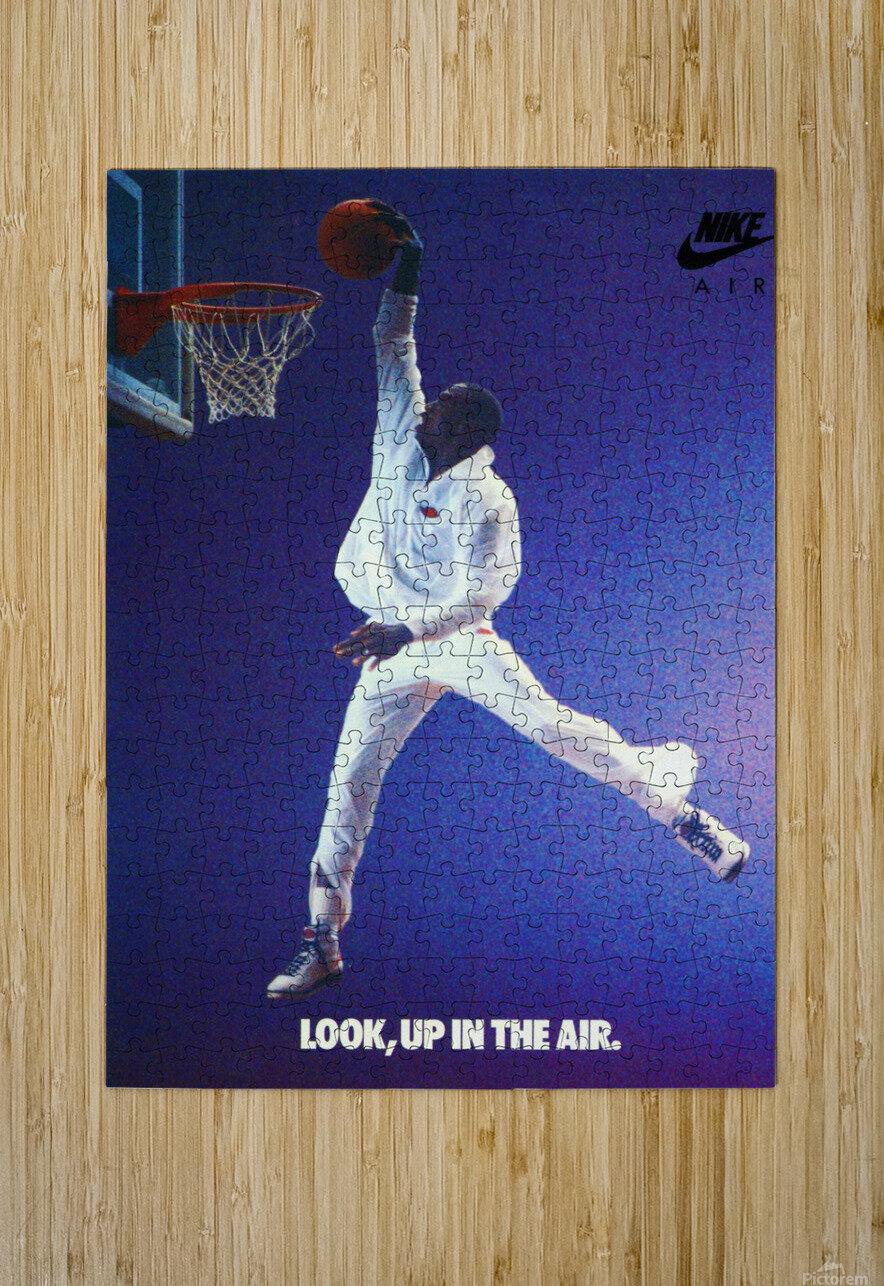 1987 Michael Jordan Nike Ad  HD Metal print with Floating Frame on Back