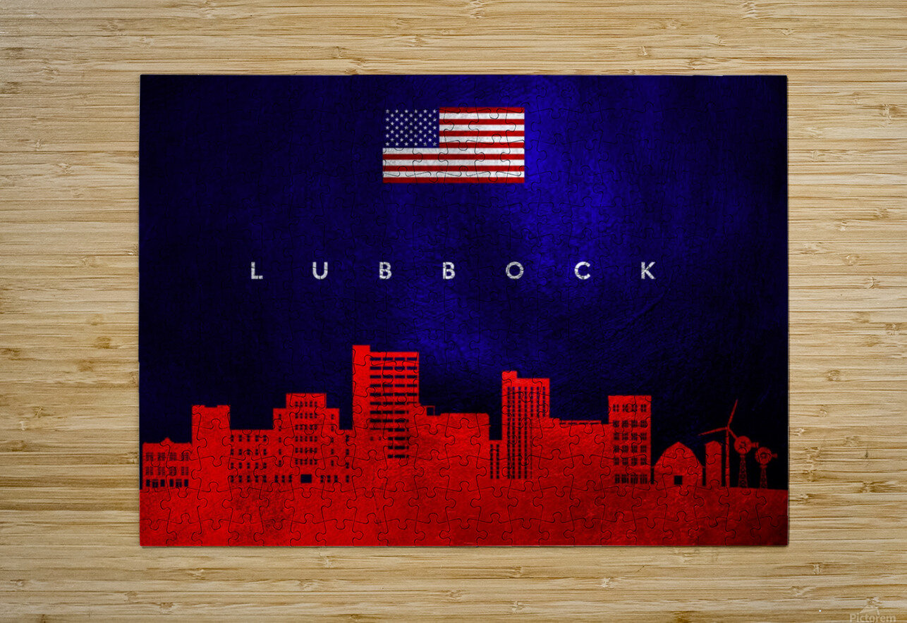 Lubbock Texas  HD Metal print with Floating Frame on Back