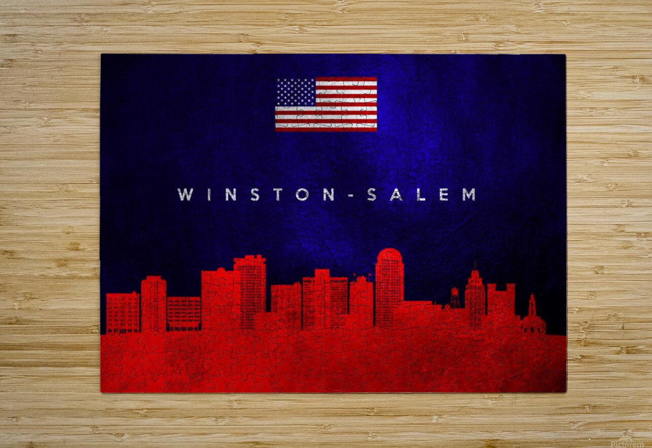 Winston Salem North Carolina  HD Metal print with Floating Frame on Back