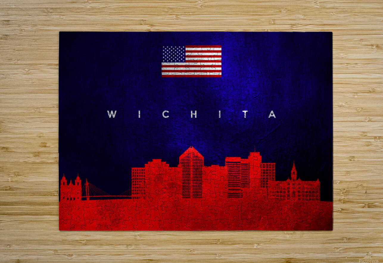 Wichita Kansas  HD Metal print with Floating Frame on Back