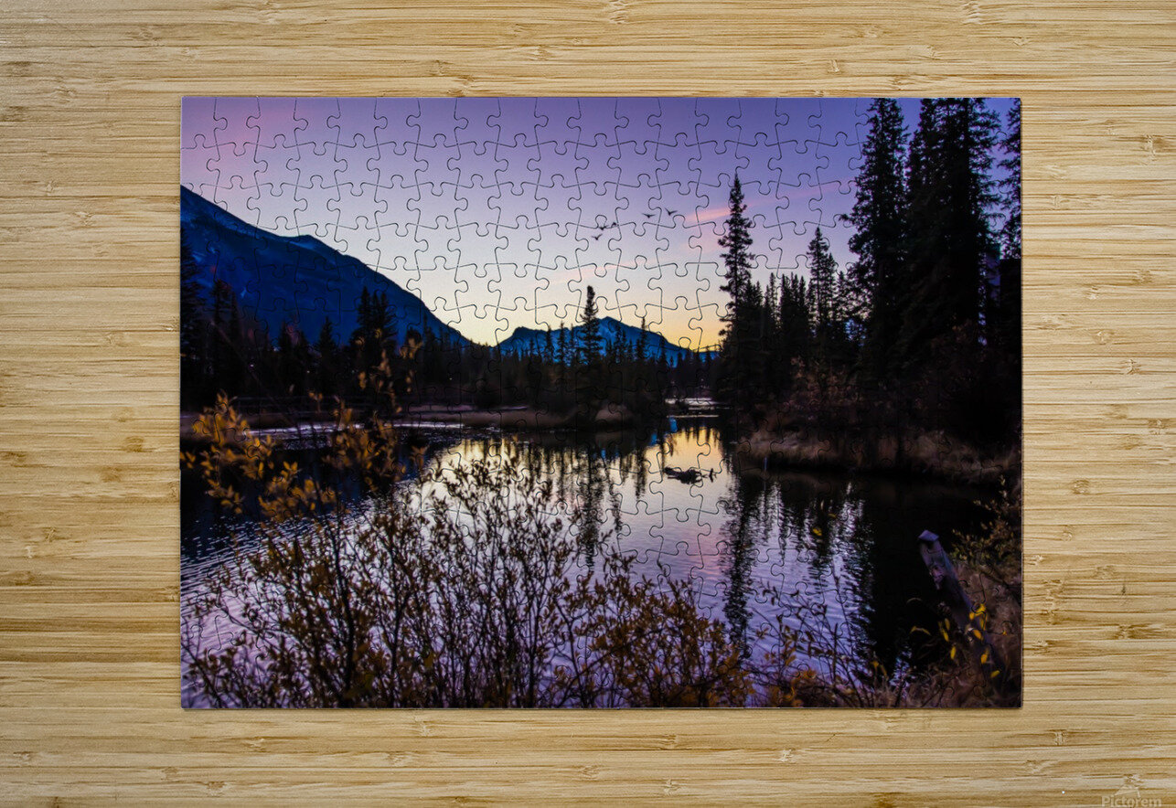 As Ducks Fly Policemans Creek Canmore  HD Metal print with Floating Frame on Back