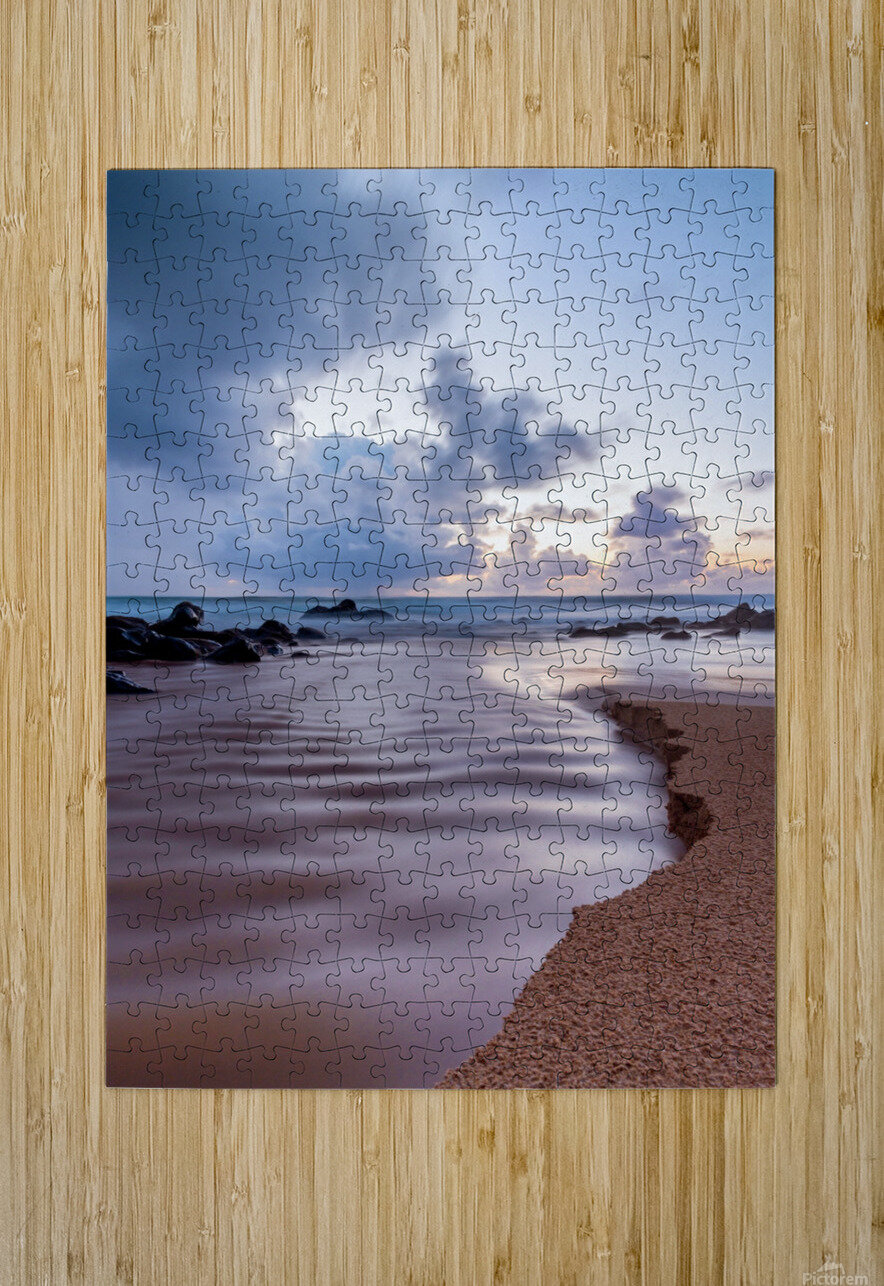 Where the Heavens Meet the Sea  HD Metal print with Floating Frame on Back