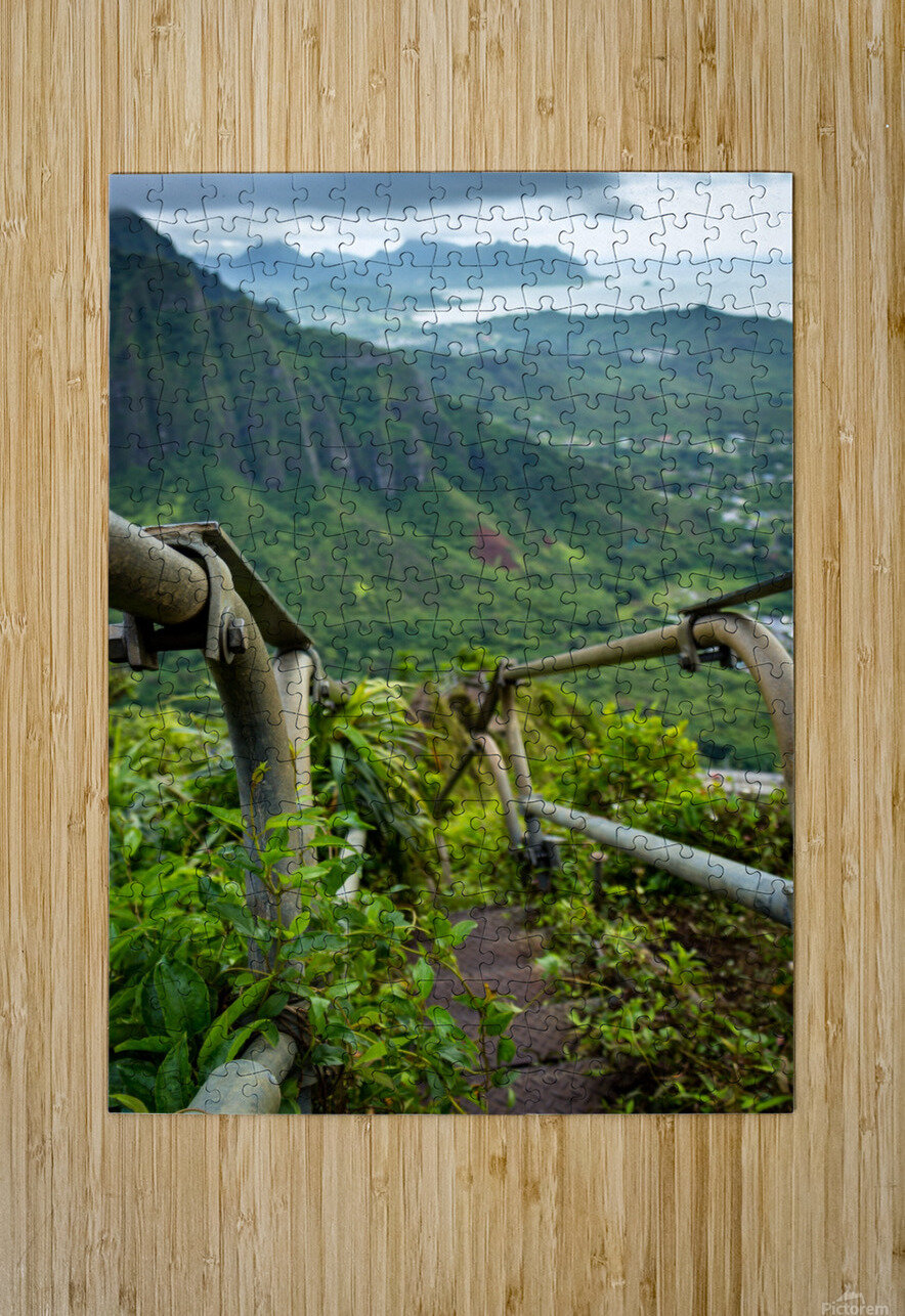 Stairway  HD Metal print with Floating Frame on Back