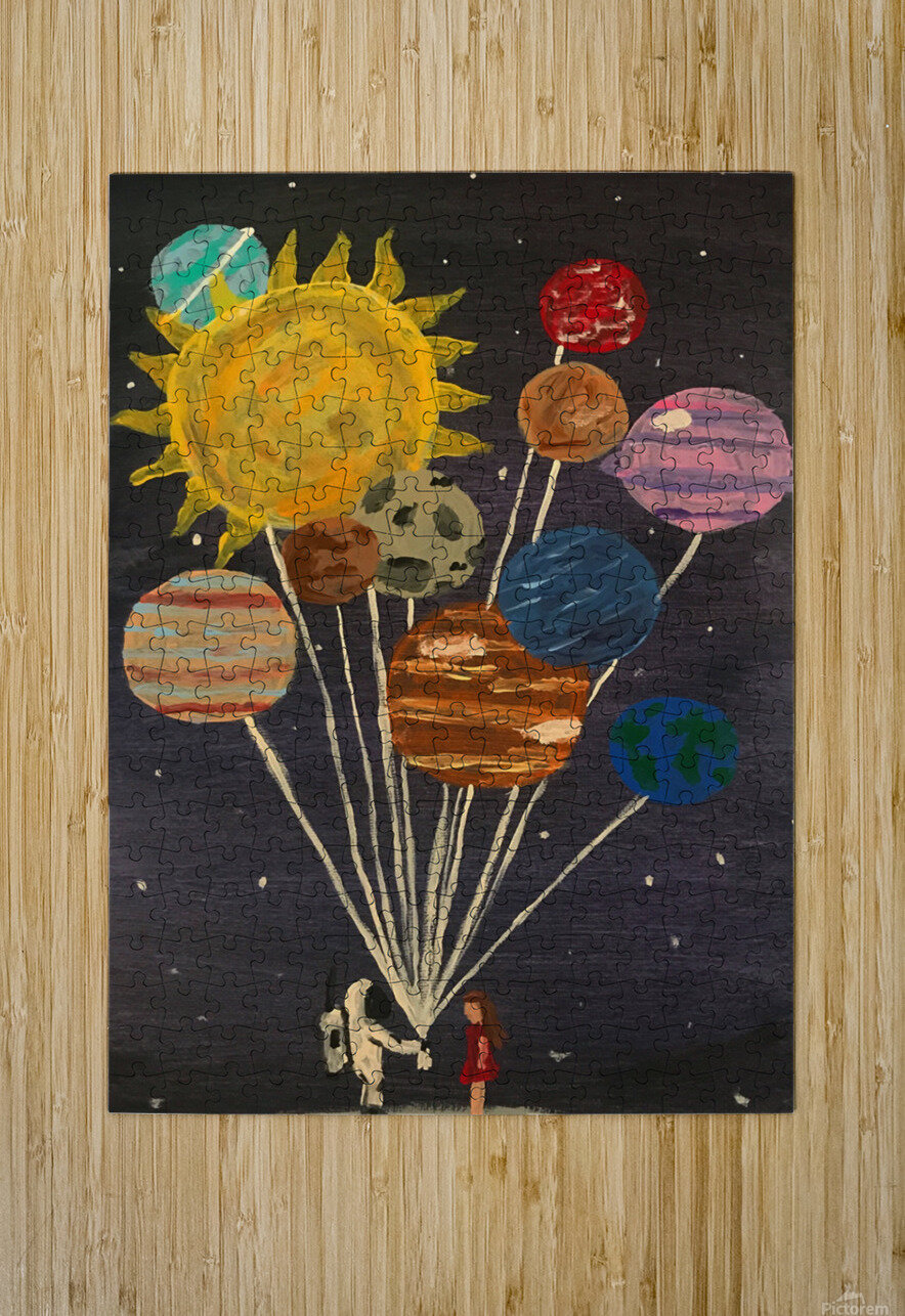 Gift From Out Of This World  HD Metal print with Floating Frame on Back