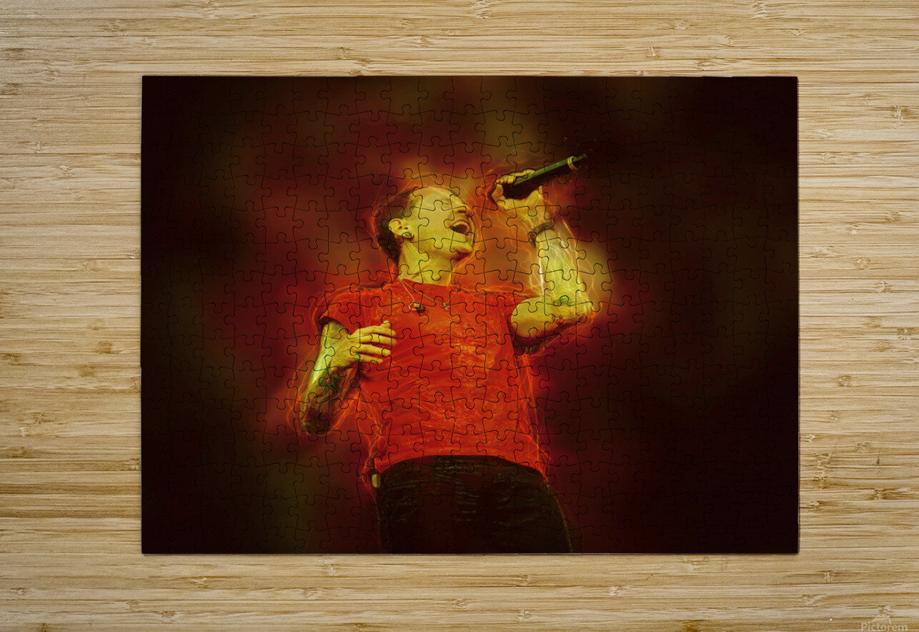 Chester Charles Bennington  HD Metal print with Floating Frame on Back