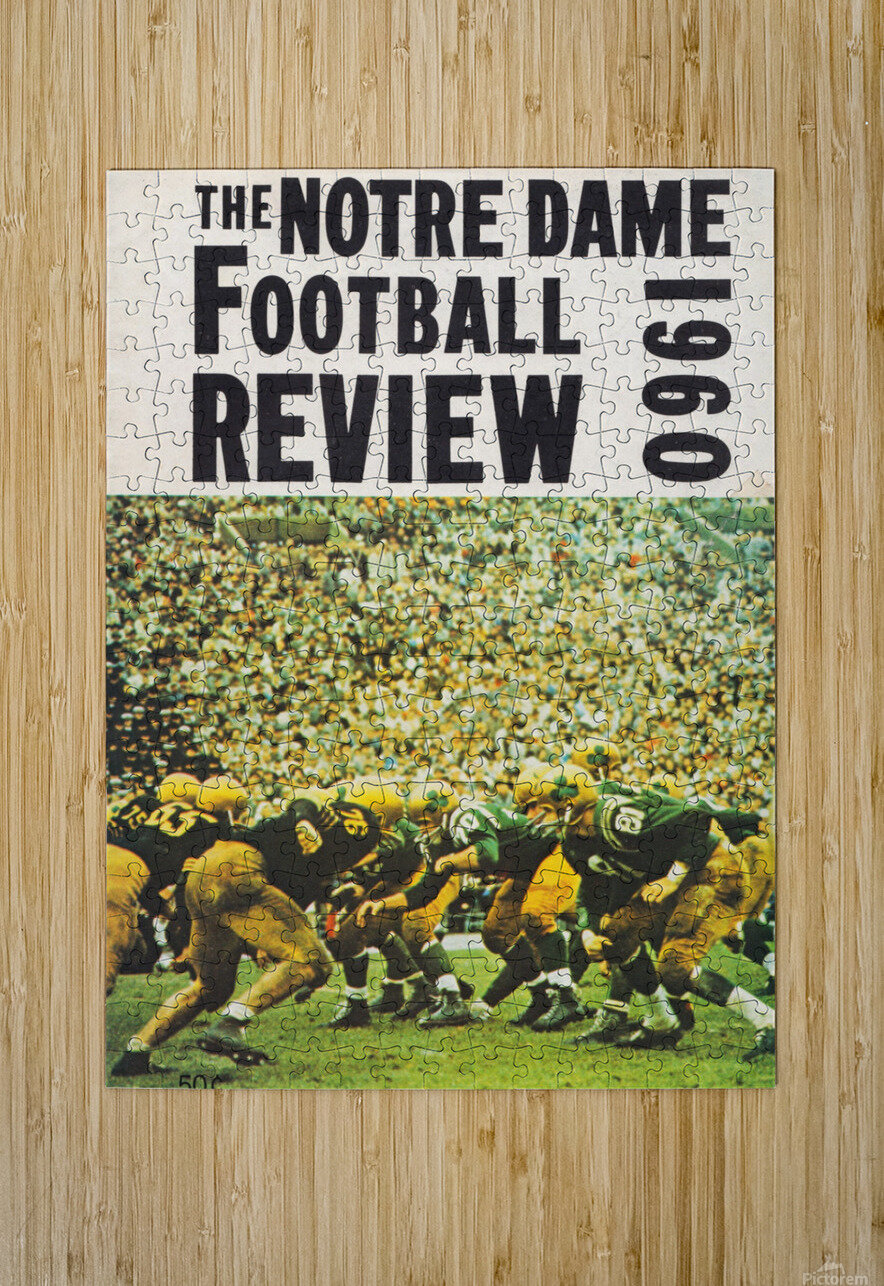 1960 notre dame football  HD Metal print with Floating Frame on Back