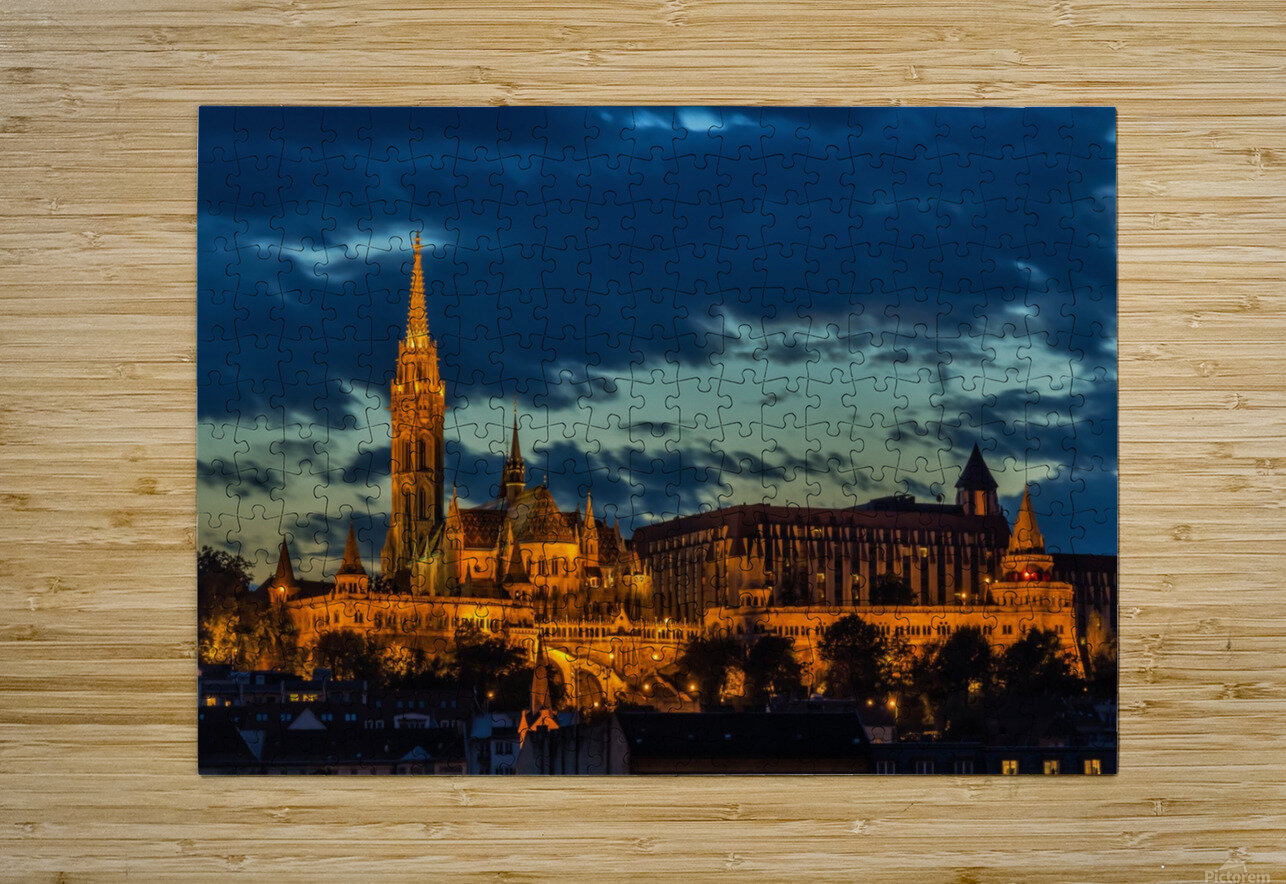 budapest church architecture  HD Metal print with Floating Frame on Back