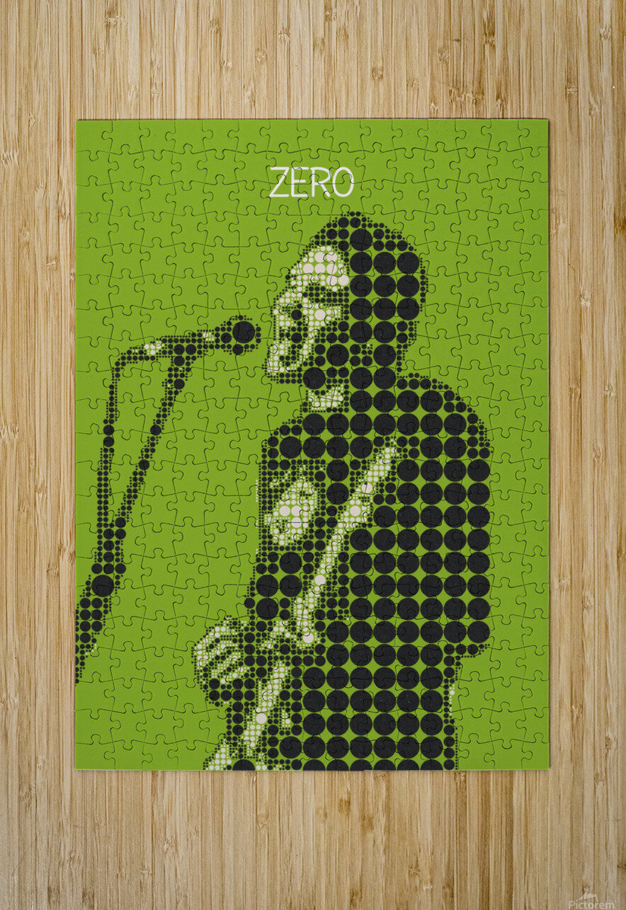 Zero   billy Corgan  HD Metal print with Floating Frame on Back