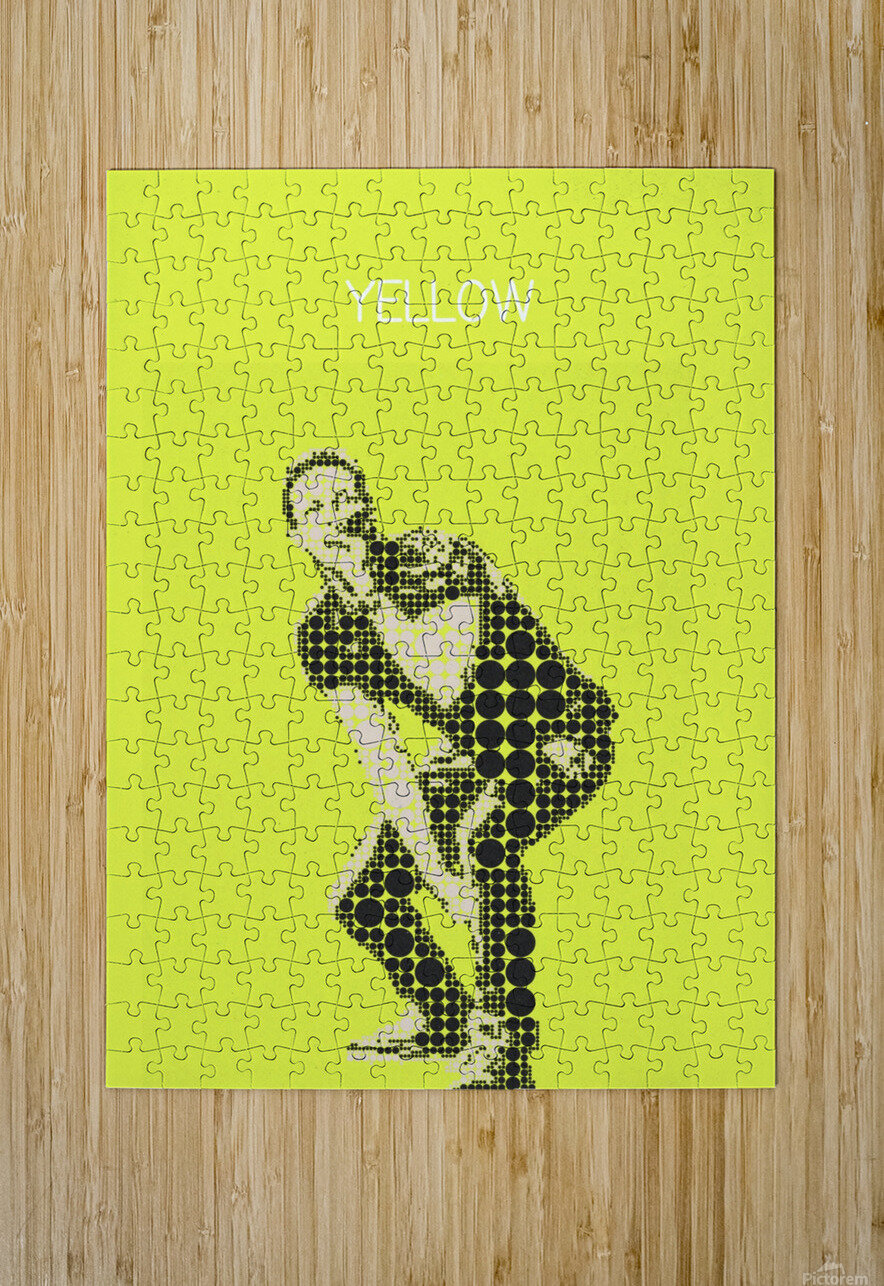 yellow    Chris Martin  HD Metal print with Floating Frame on Back