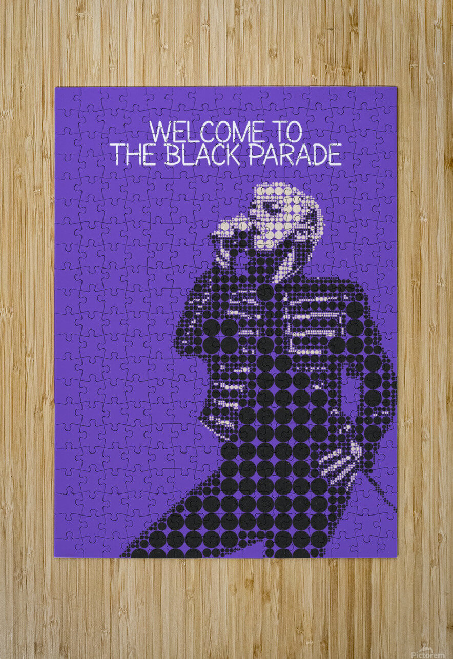 Welcome To The Black Parade   Gerard Way  HD Metal print with Floating Frame on Back
