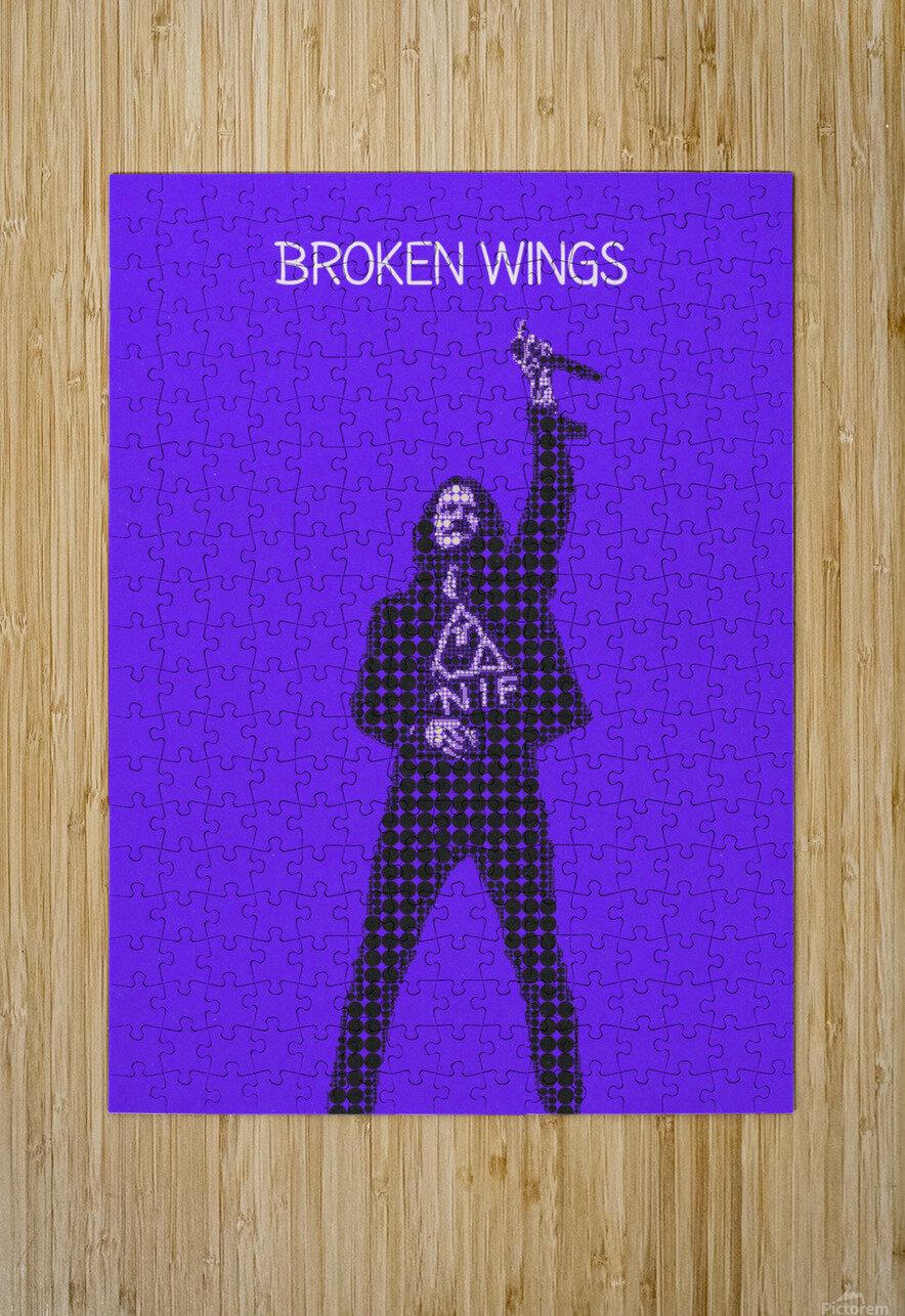 broken wings   Myles Kennedy   alter bridge  HD Metal print with Floating Frame on Back