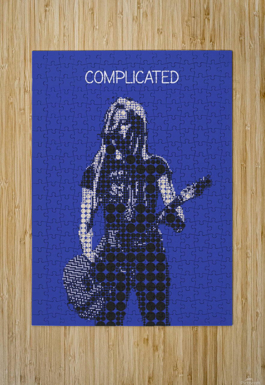 Complicated   Avril Lavigne  HD Metal print with Floating Frame on Back