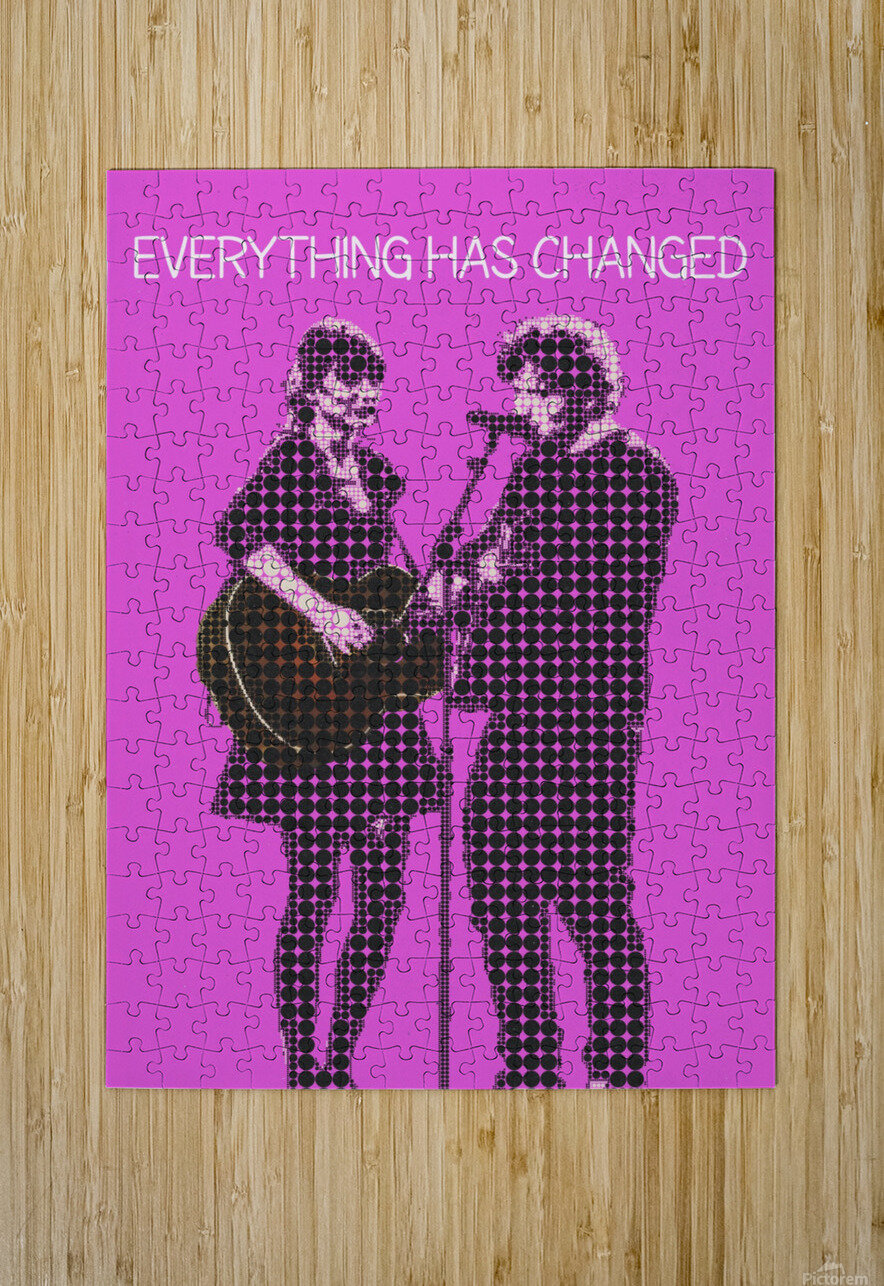 Everything Has Changed   Taylor Swift and Ed Sheeran   HD Metal print with Floating Frame on Back