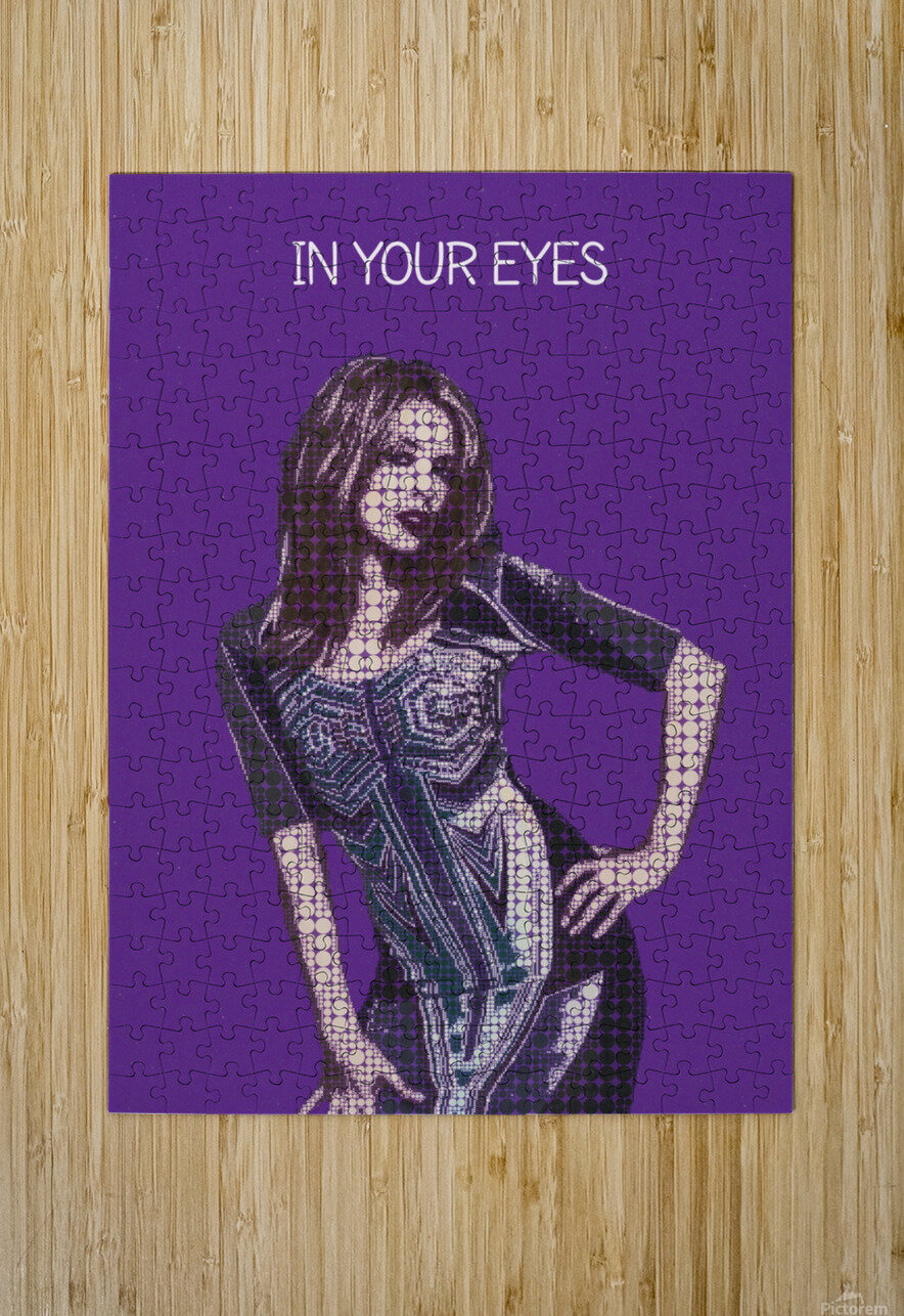 In Your Eyes   Kylie Minogue  HD Metal print with Floating Frame on Back