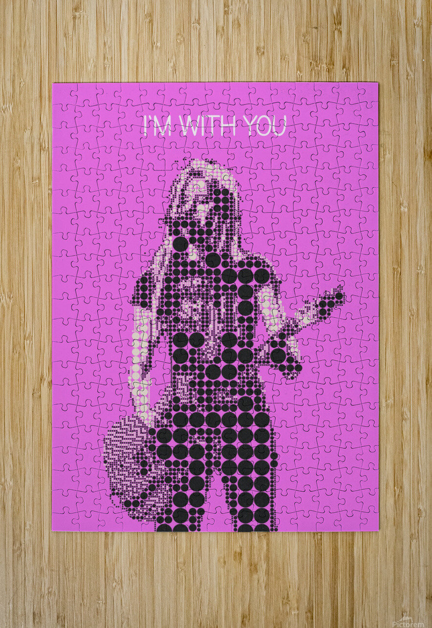 im with you   Avril Lavigne  HD Metal print with Floating Frame on Back