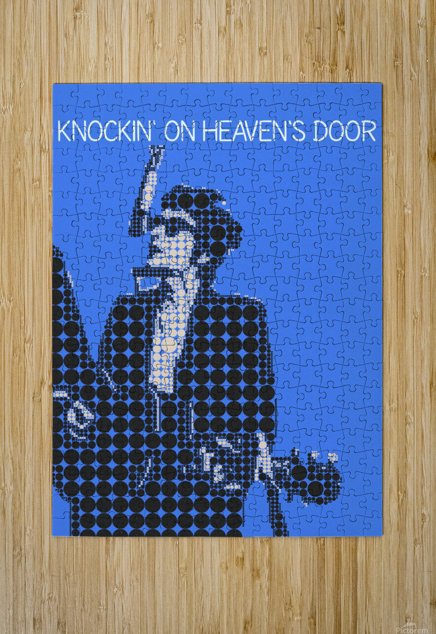 Knockin on Heavens Door   Bob Dylan  HD Metal print with Floating Frame on Back