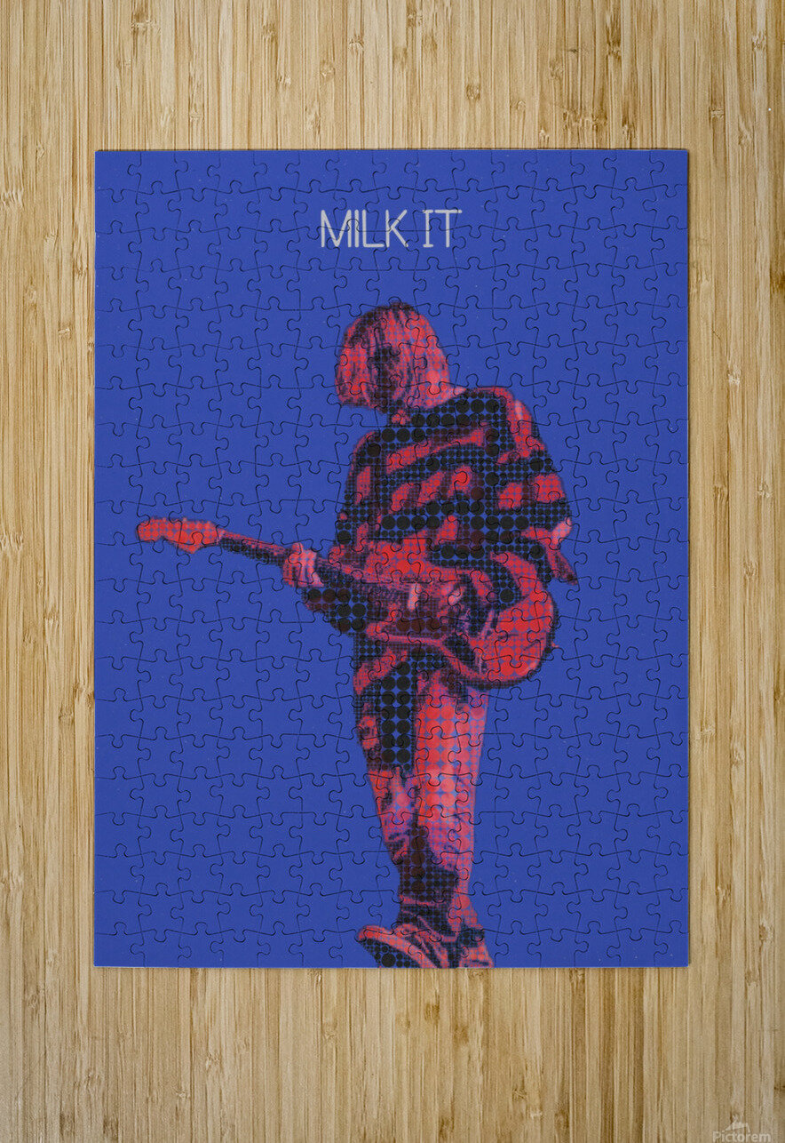 Milk It   Kurt Cobain   Nirvana Live in Chicago October 23 1993  HD Metal print with Floating Frame on Back