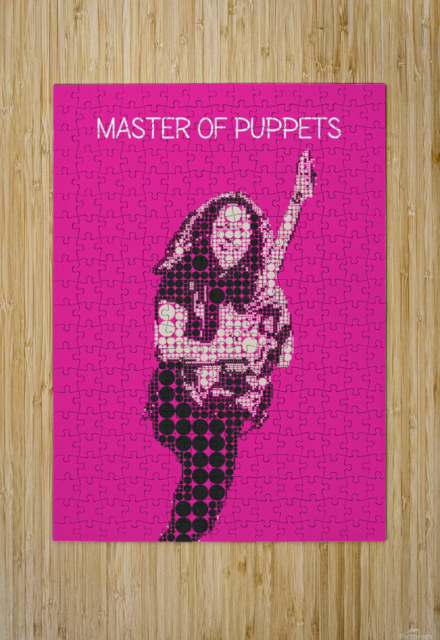 Master Of Puppets   Kirk Hammett  HD Metal print with Floating Frame on Back