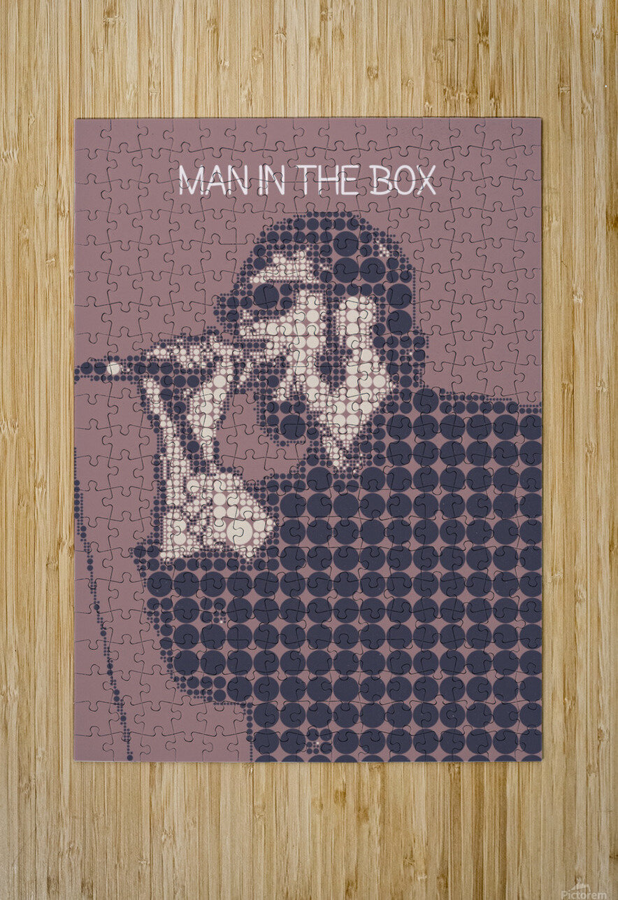 Man in the Box   Layne Staley  HD Metal print with Floating Frame on Back