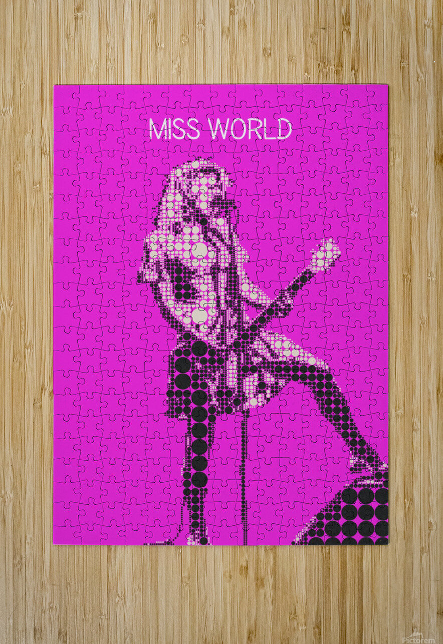 miss world   Courtney Love   Hole  HD Metal print with Floating Frame on Back