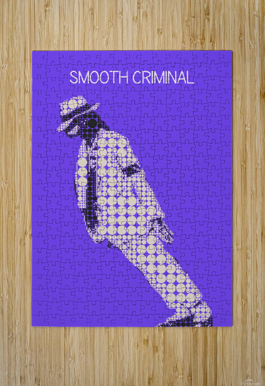 michael jackson_Smooth Criminal  HD Metal print with Floating Frame on Back