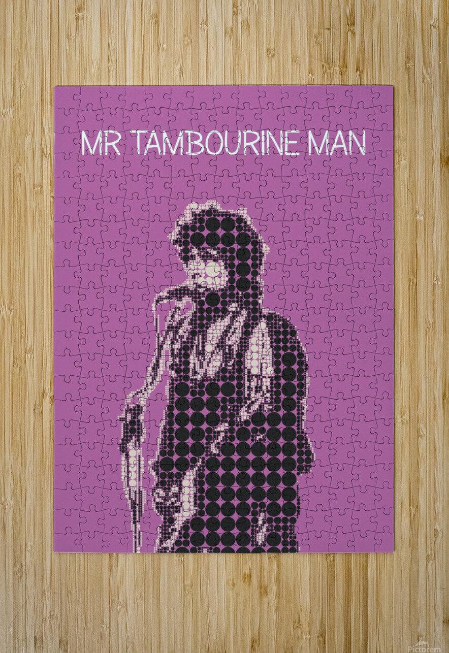 Mr Tambourine Man   Bob Dylan  HD Metal print with Floating Frame on Back