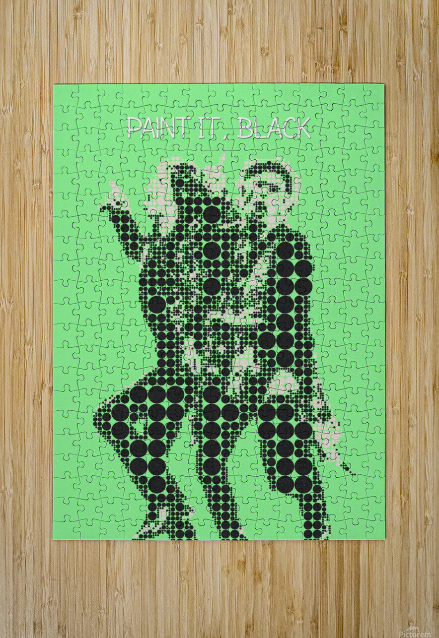 Paint it Black   Mick Jagger and Keith Richards  HD Metal print with Floating Frame on Back