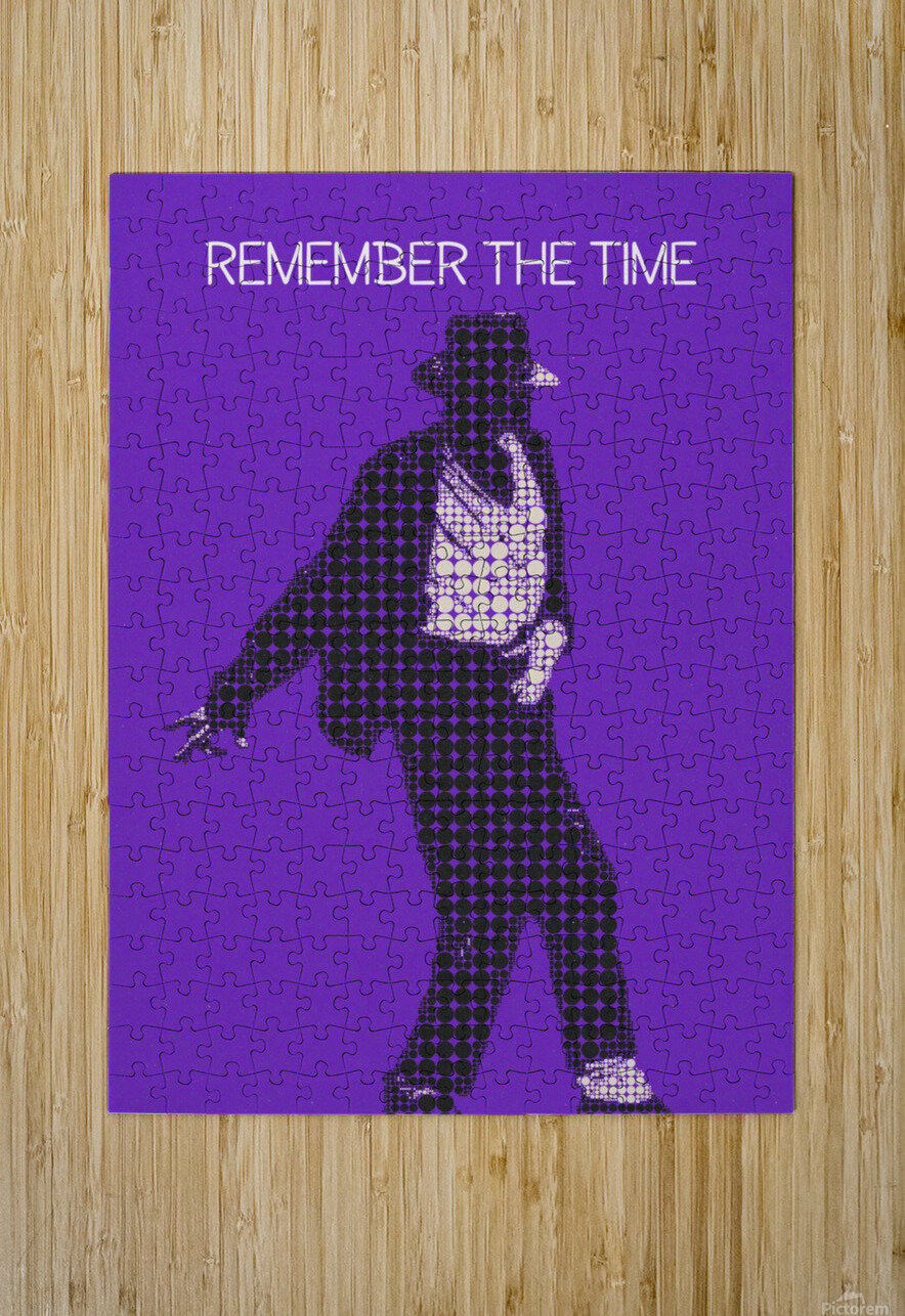 remember the time   Michael Jackson  HD Metal print with Floating Frame on Back